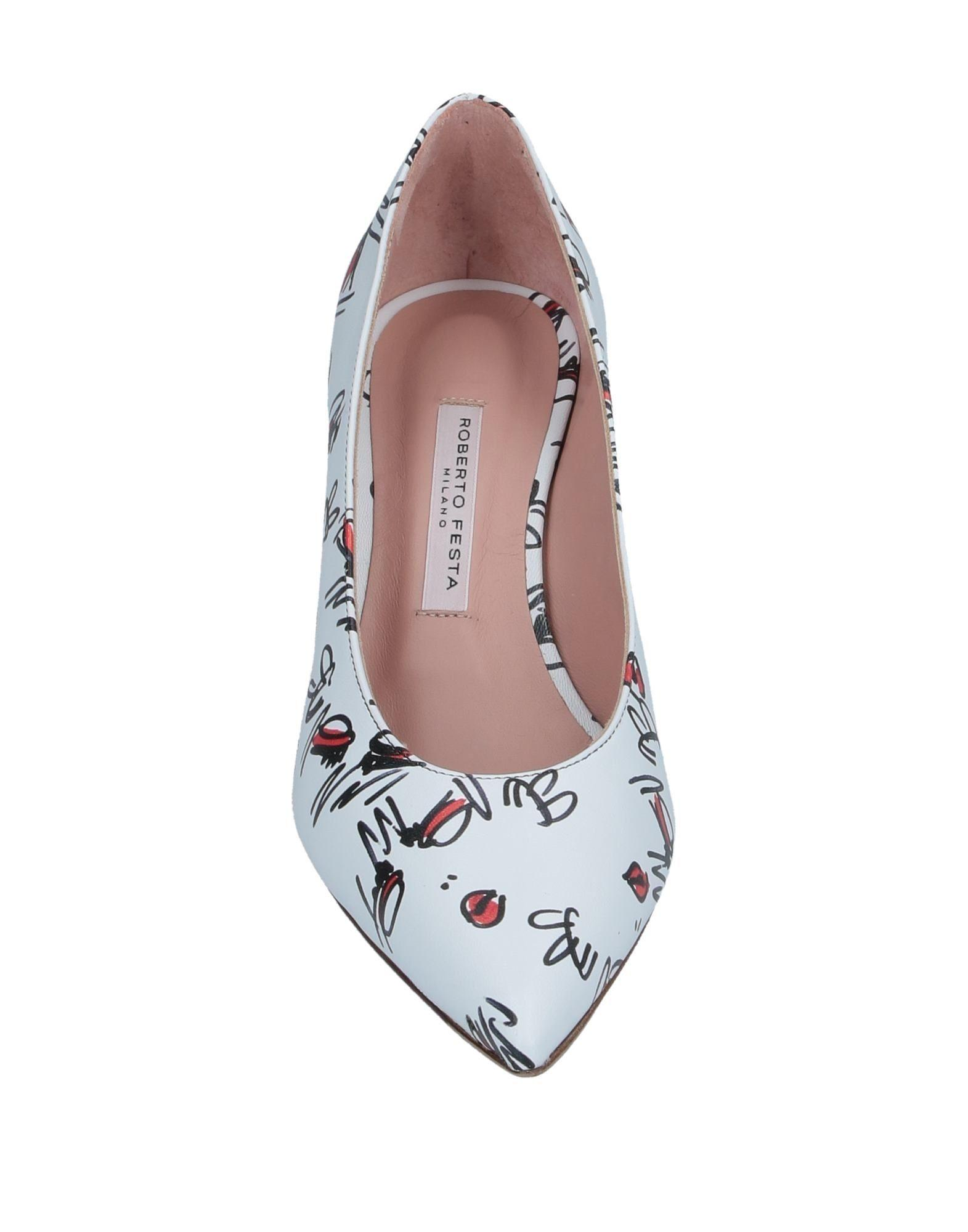 Zapatos de salón Roberto Festa de Cuero de color Blanco
