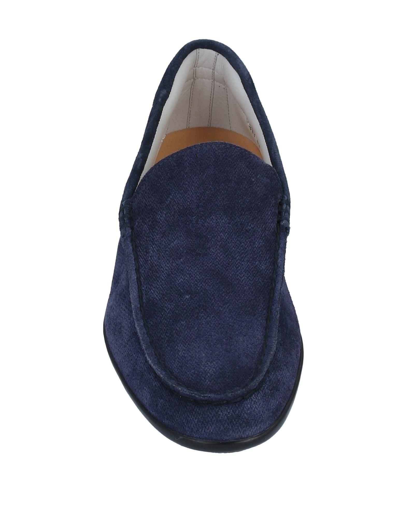 Mocasines Santoni de Cuero de color Azul para hombre