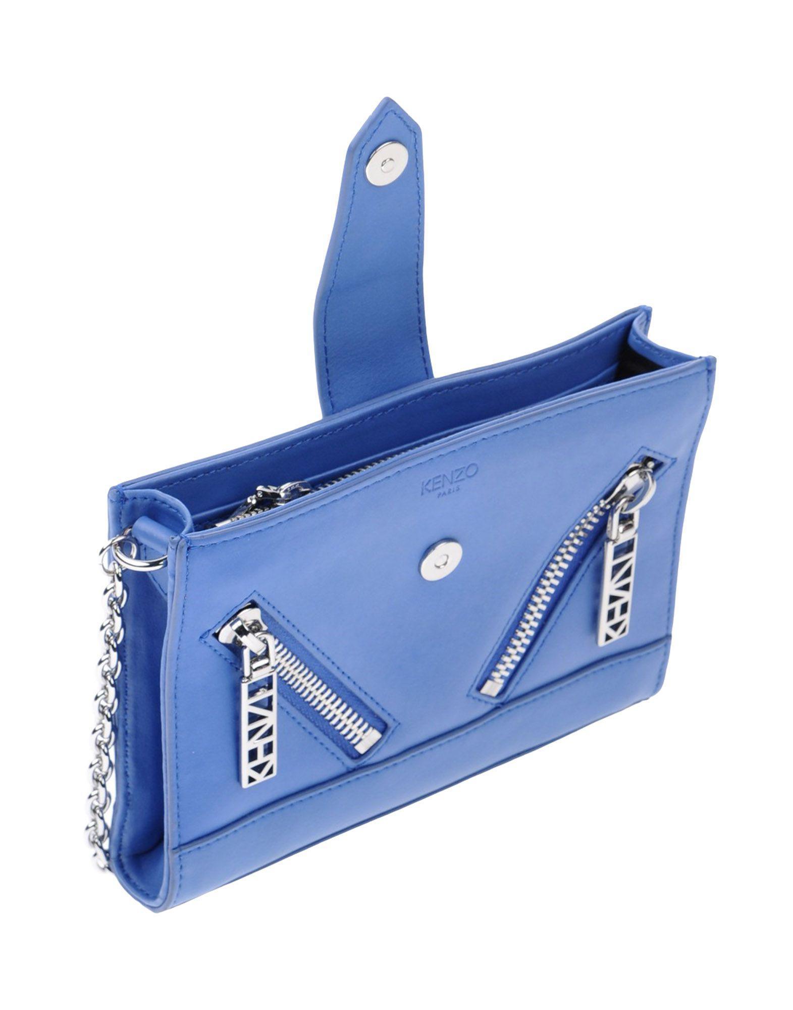 KENZO Leather Cross-body Bag in Pastel Blue (Blue)