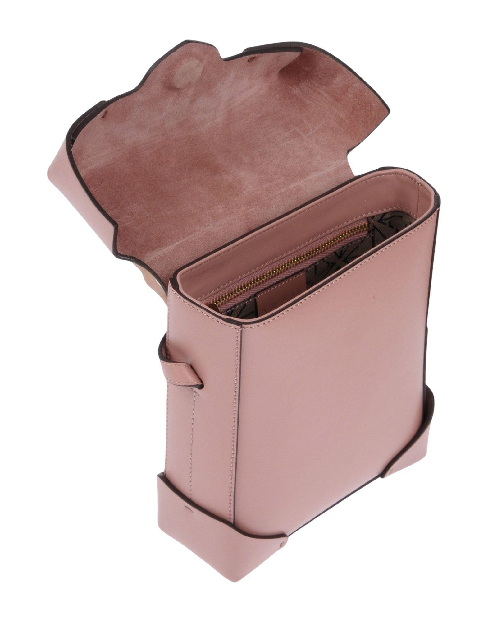 MANU Atelier Leather Cross-body Bag in Pastel Pink (Pink)