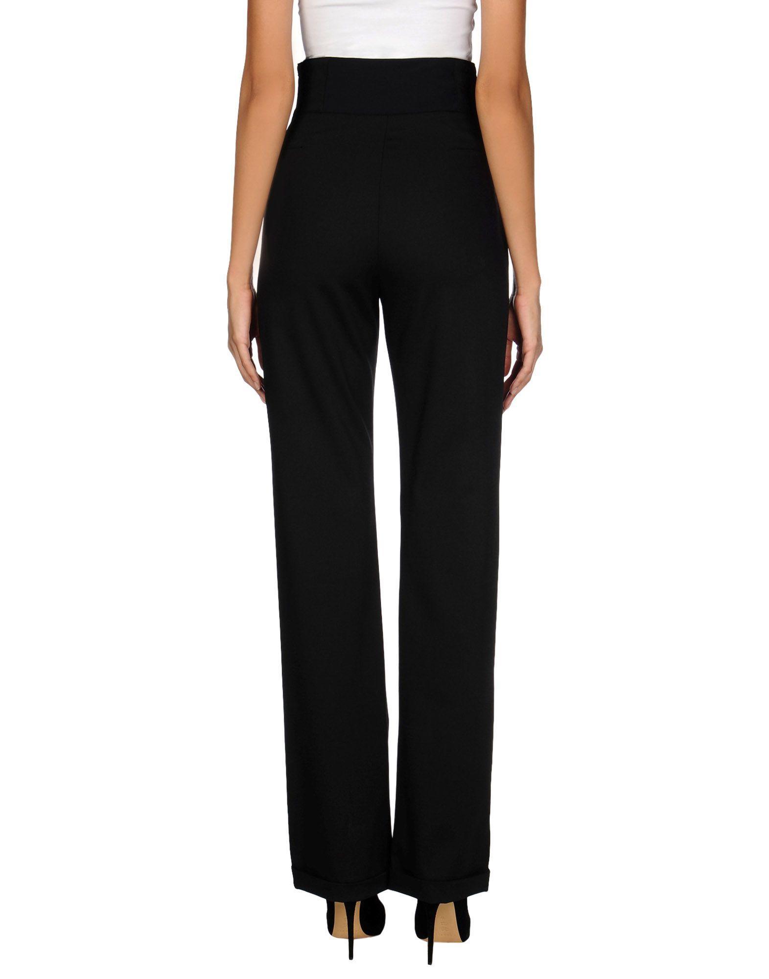 Versace Wool Casual Pants in Black
