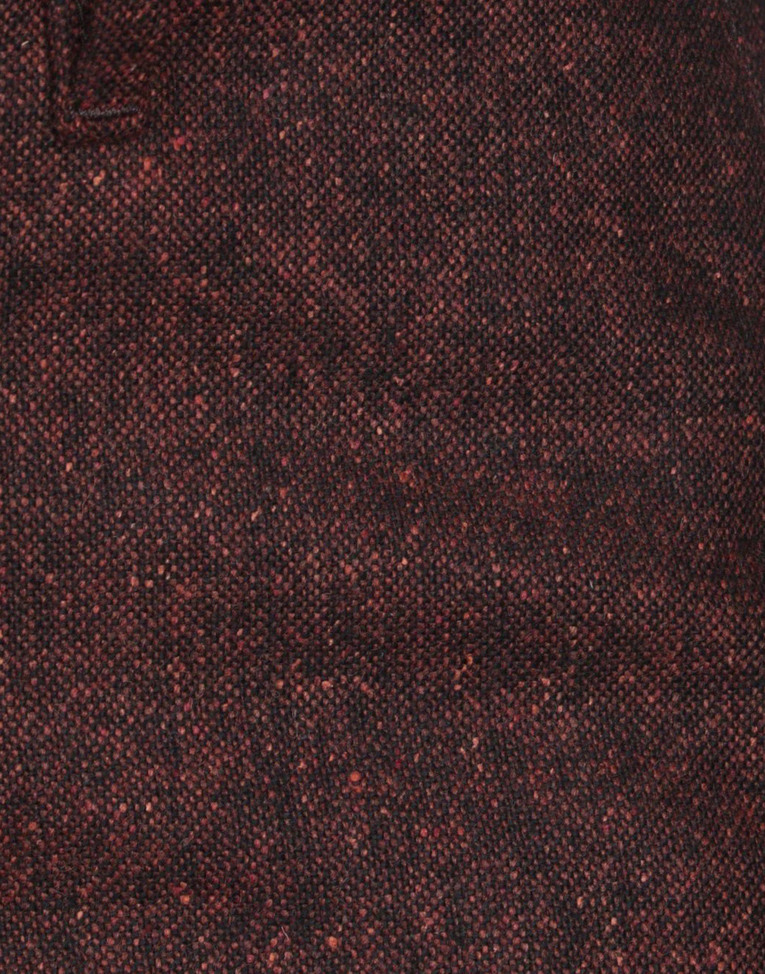 Haikure Tweed Casual Trouser in Maroon (Purple)