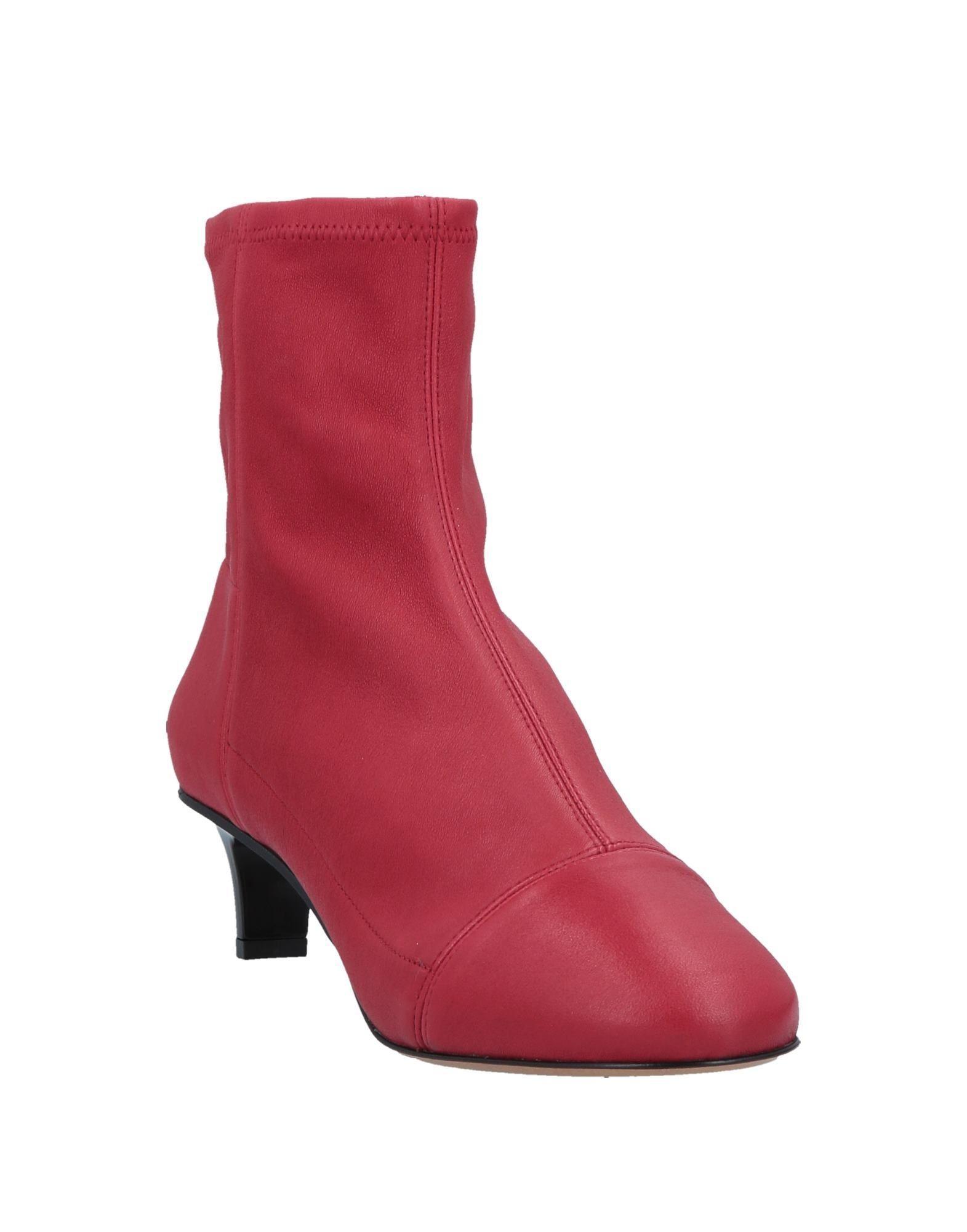 Botines de caña alta Isabel Marant de Cuero de color Rojo