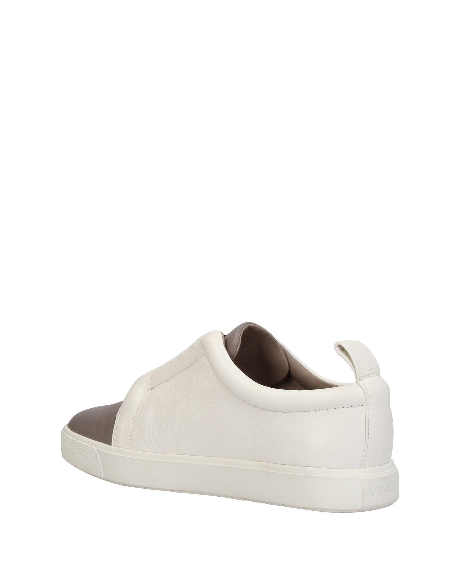 Vince Leather Low-tops & Sneakers in White