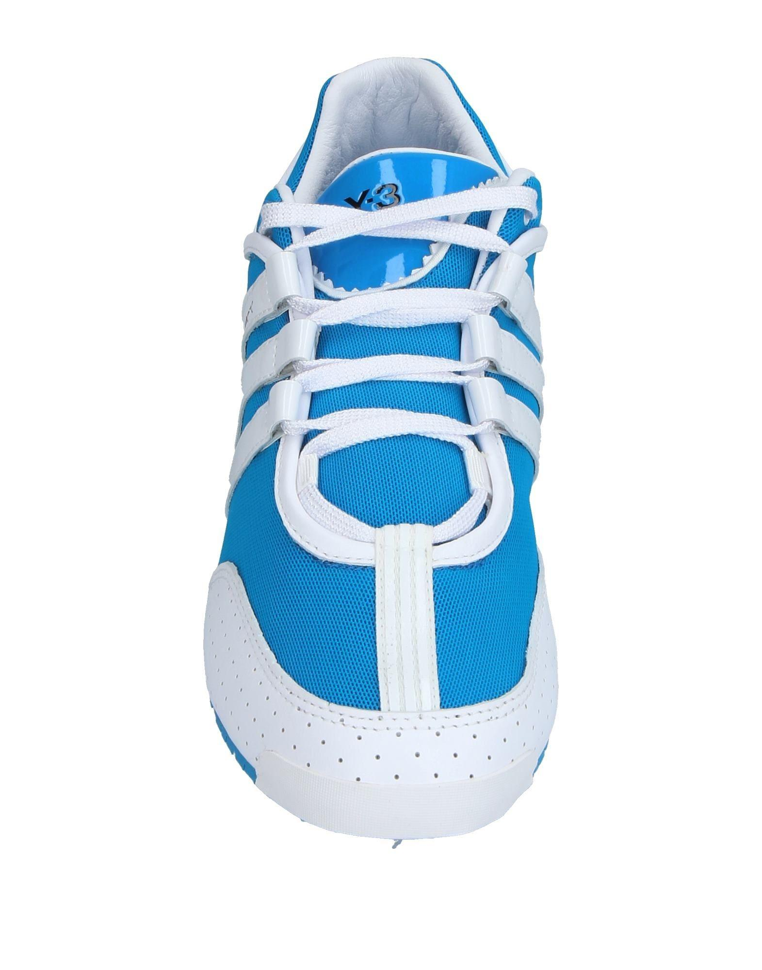 Y-3 Leather Low-tops & Sneakers in Azure (Blue)