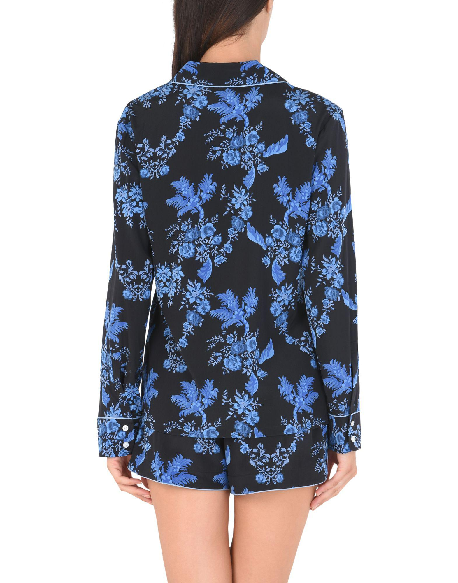 Lyst - Stella McCartney Poppy Snoozing Printed Stretch-silk Crepe De Chine  Pajama Set in Blue - Save 44% 9072cf4e0