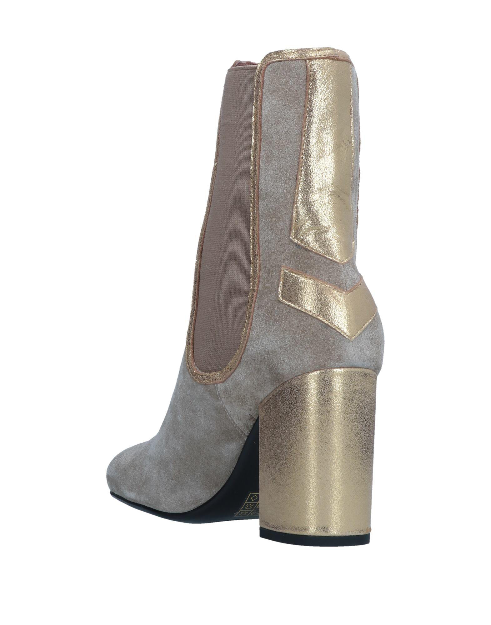 Lola Cruz Ankle Boots in Beige (Natural)