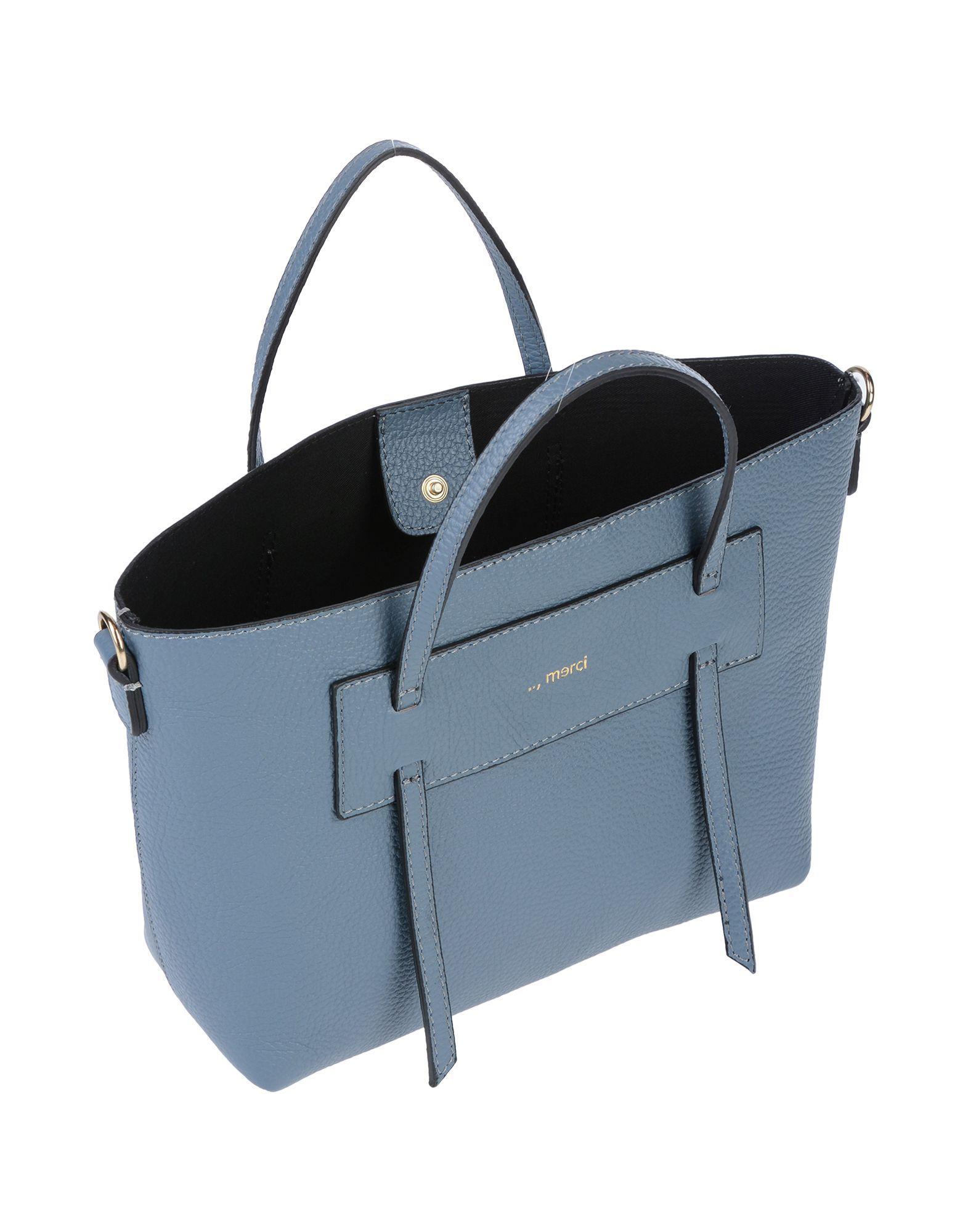 ..,merci Leder Handtaschen in Blau  YT3sK