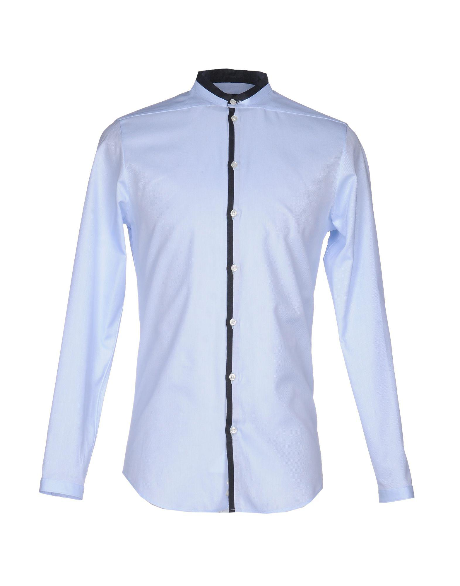 lyst emporio armani shirts in blue for men