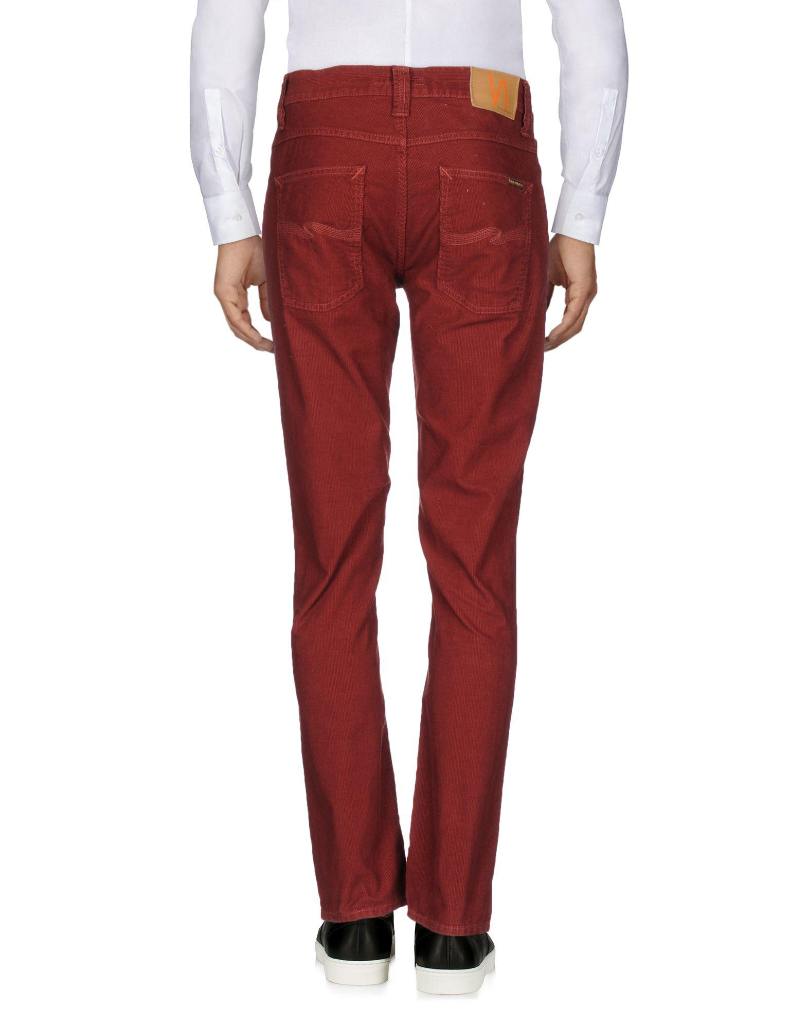 Nudie Jeans Corduroy Casual Trouser in Brick Red (Red) for Men