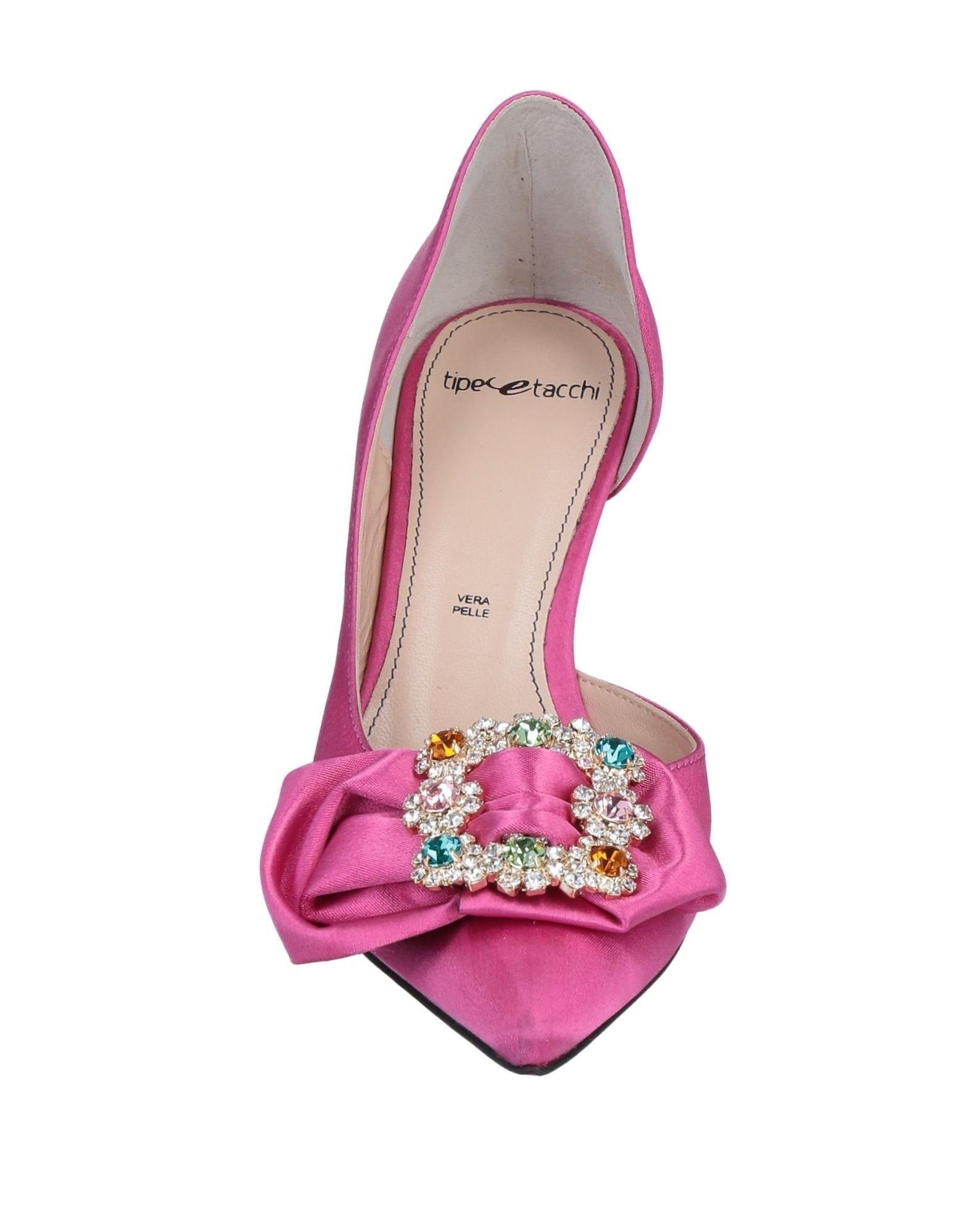 Zapatos de salón Tipe E Tacchi de Raso de color Rosa