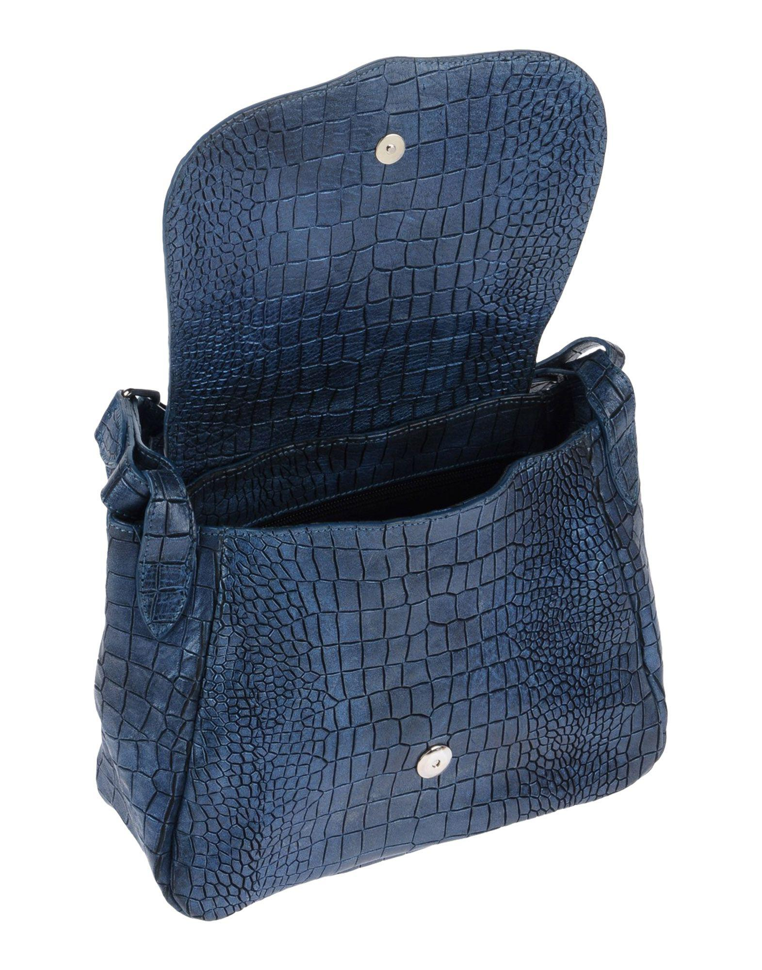 Orciani Leather Cross-body Bag in Blue