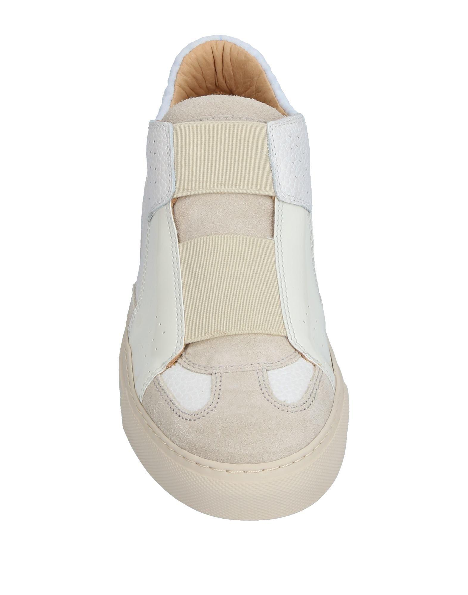 MM6 by Maison Martin Margiela Leather Low-tops & Sneakers in Ivory (White)