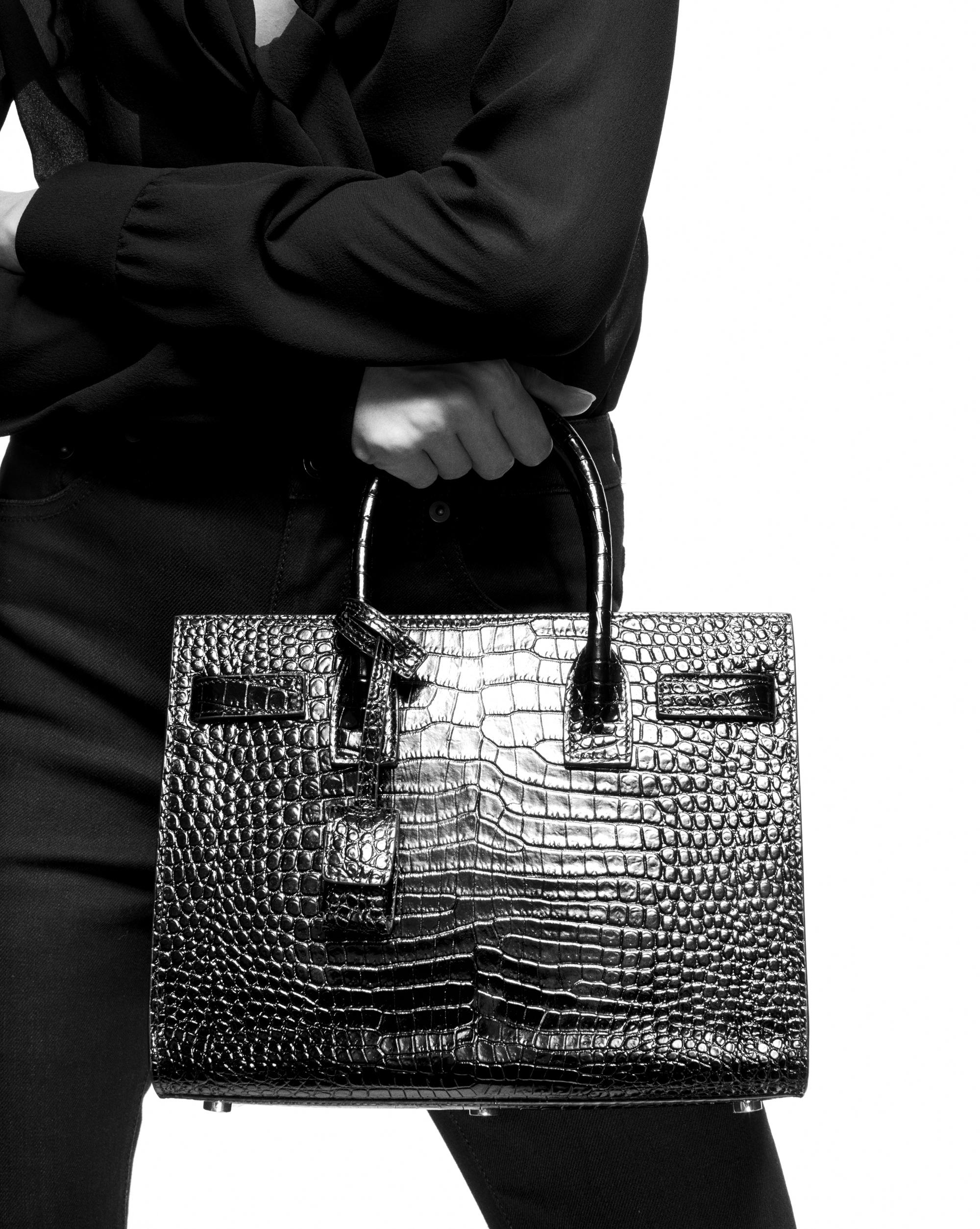 a5659e1128 Saint Laurent Multicolor Classic Sac De Jour Baby In Shiny  Crocodile-embossed Leather