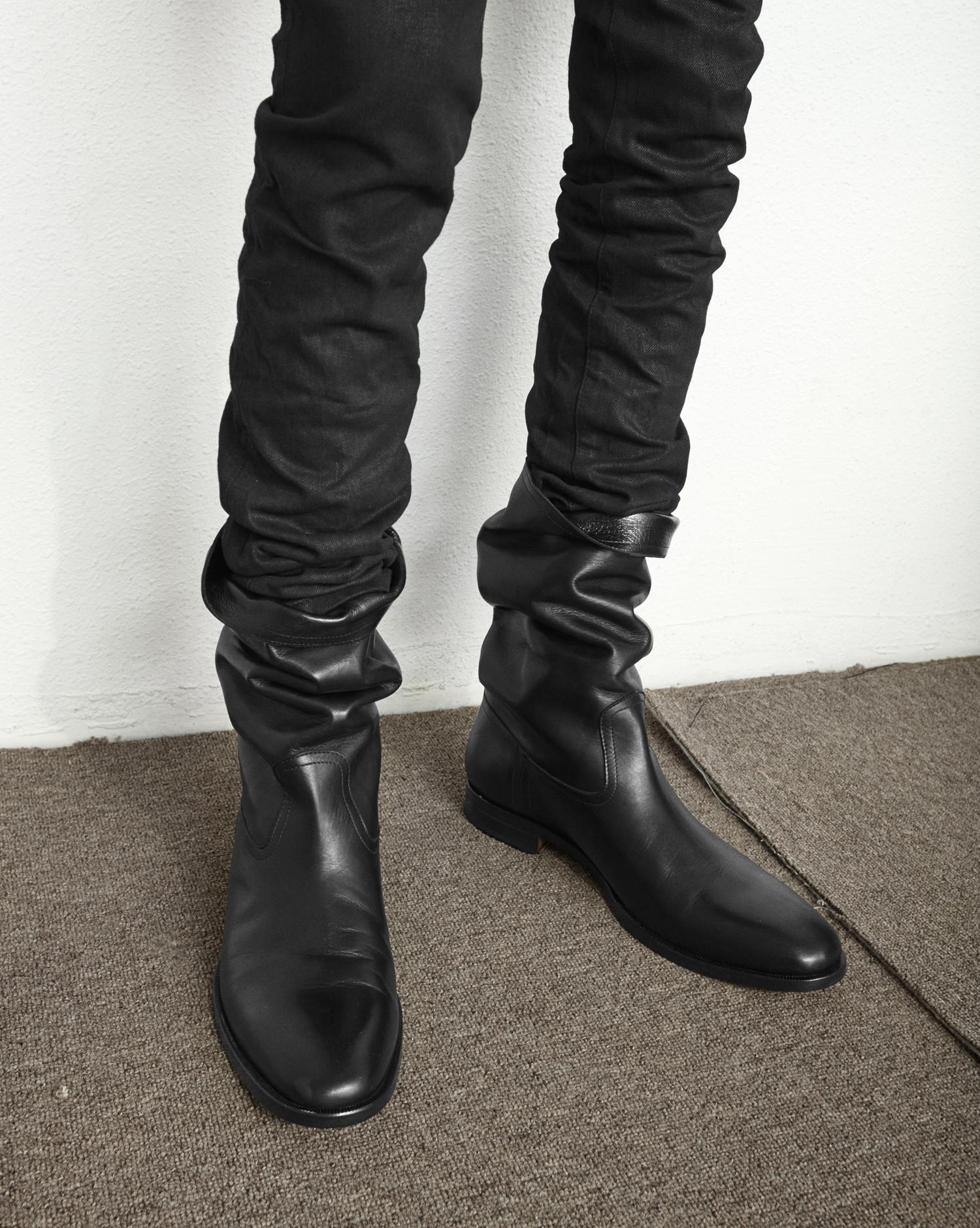 e90b7fe057 Saint Laurent Matt 25 Boot In Black Leather - Lyst