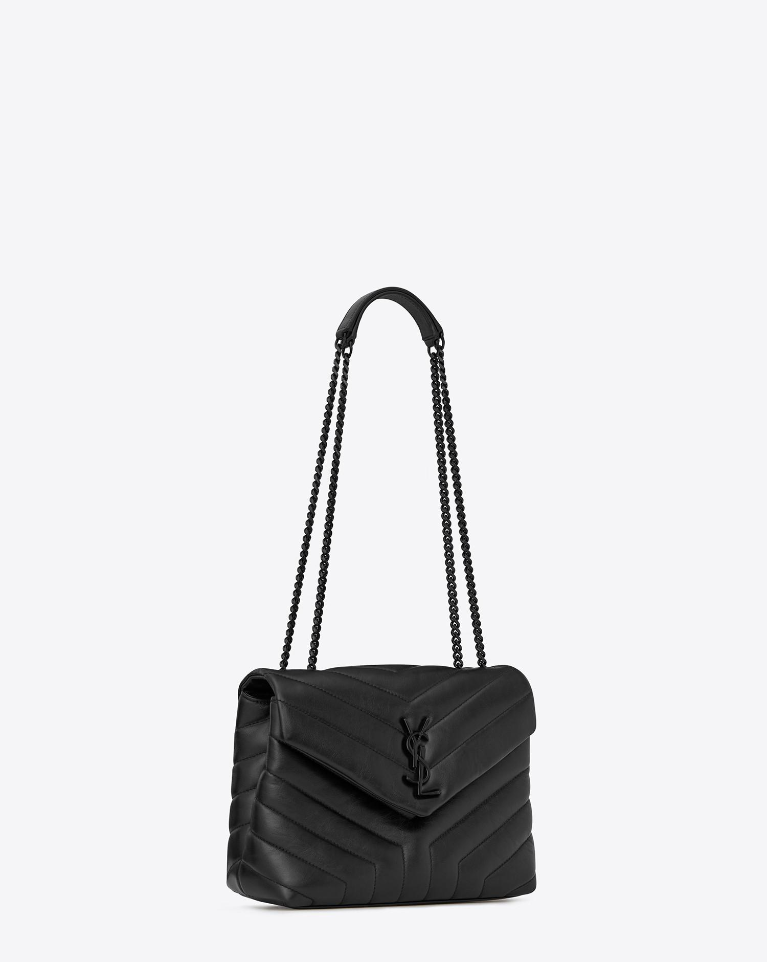 09a5e45aa4 Saint Laurent Monogramme Loulou in Black - Lyst