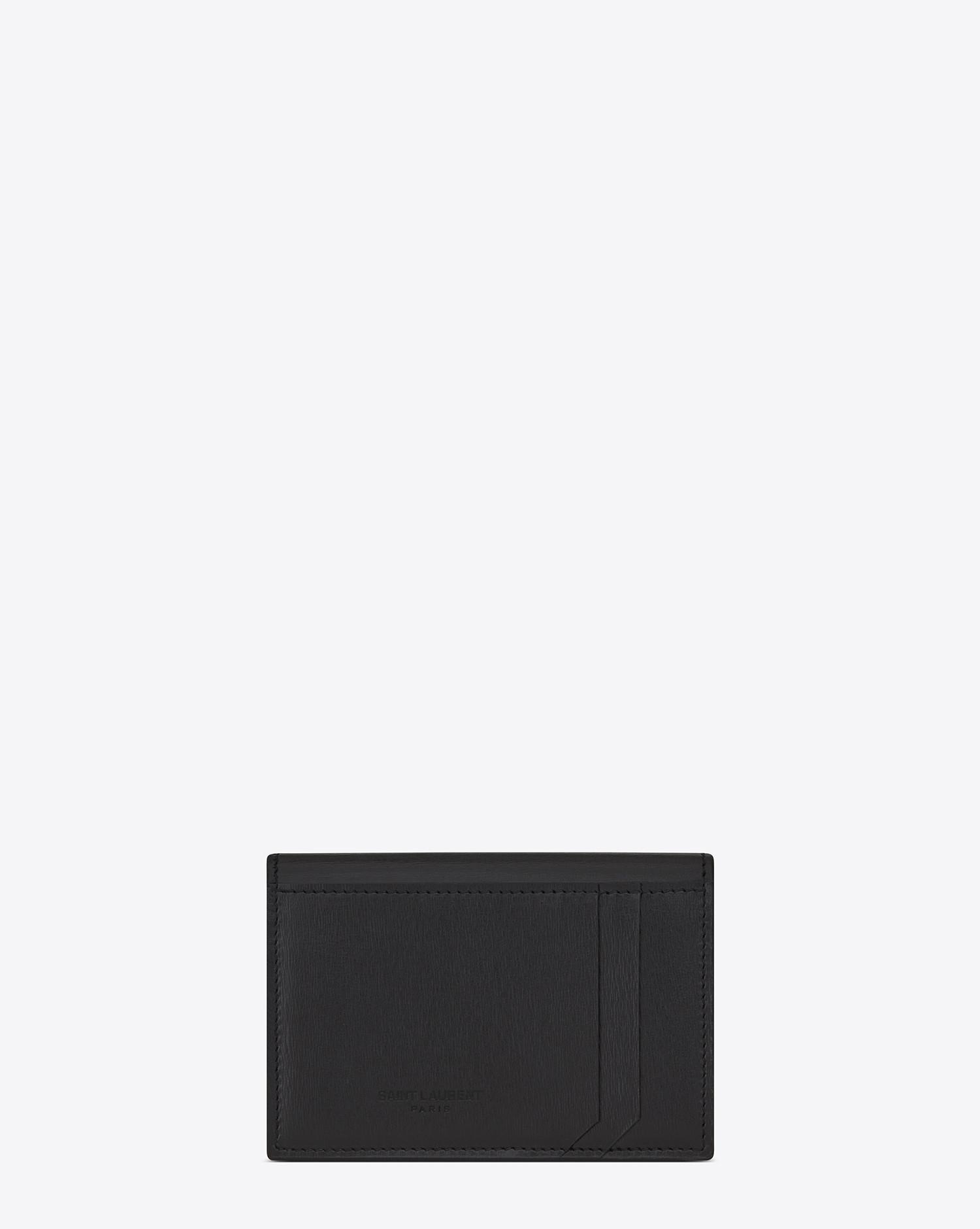 Lyst saint laurent fragments business card case in black leather saint laurent womens fragments business card case in black colourmoves