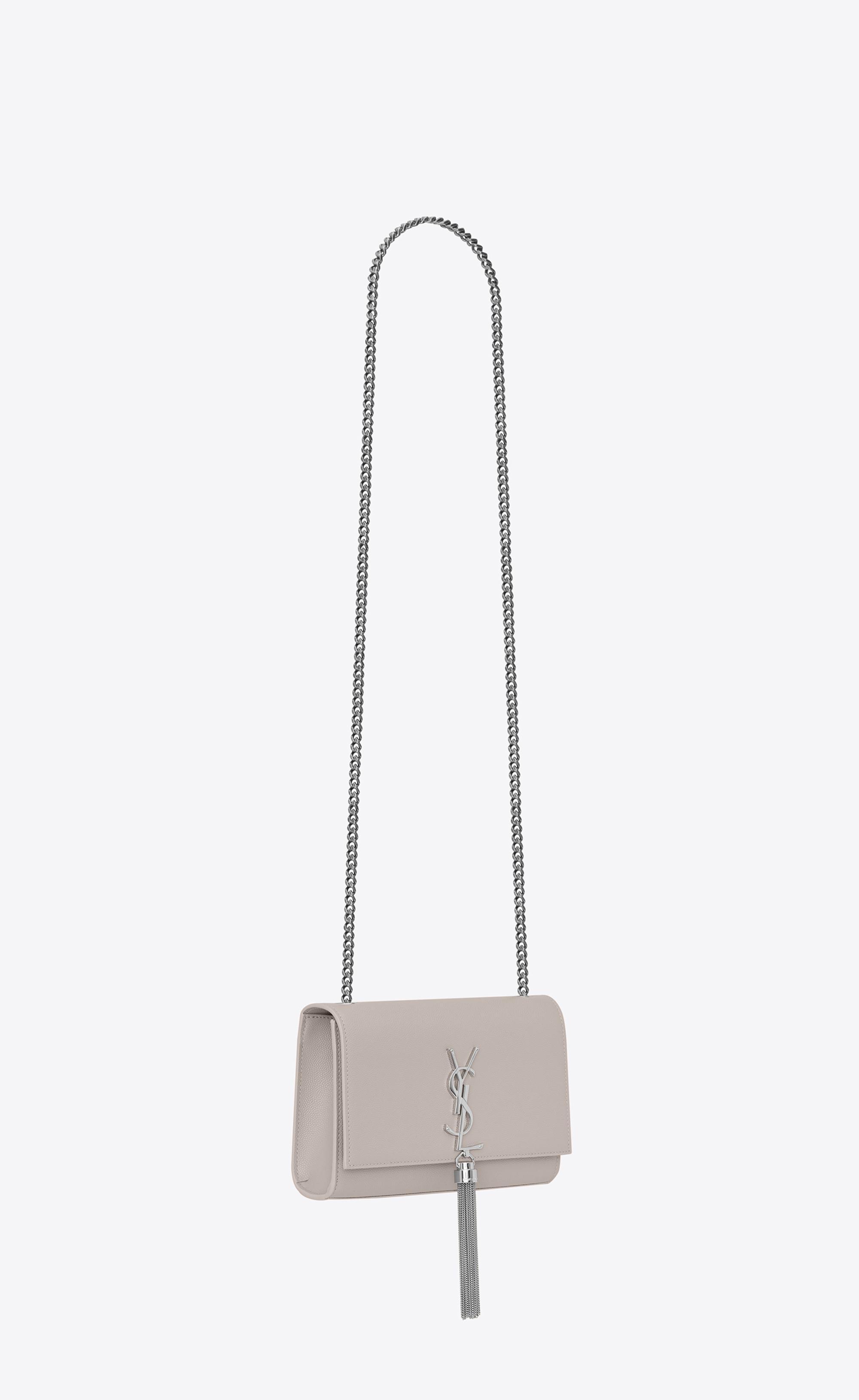 e1f4d518 Women's White Kate Small With Tassel In Grain De Poudre Embossed Leather