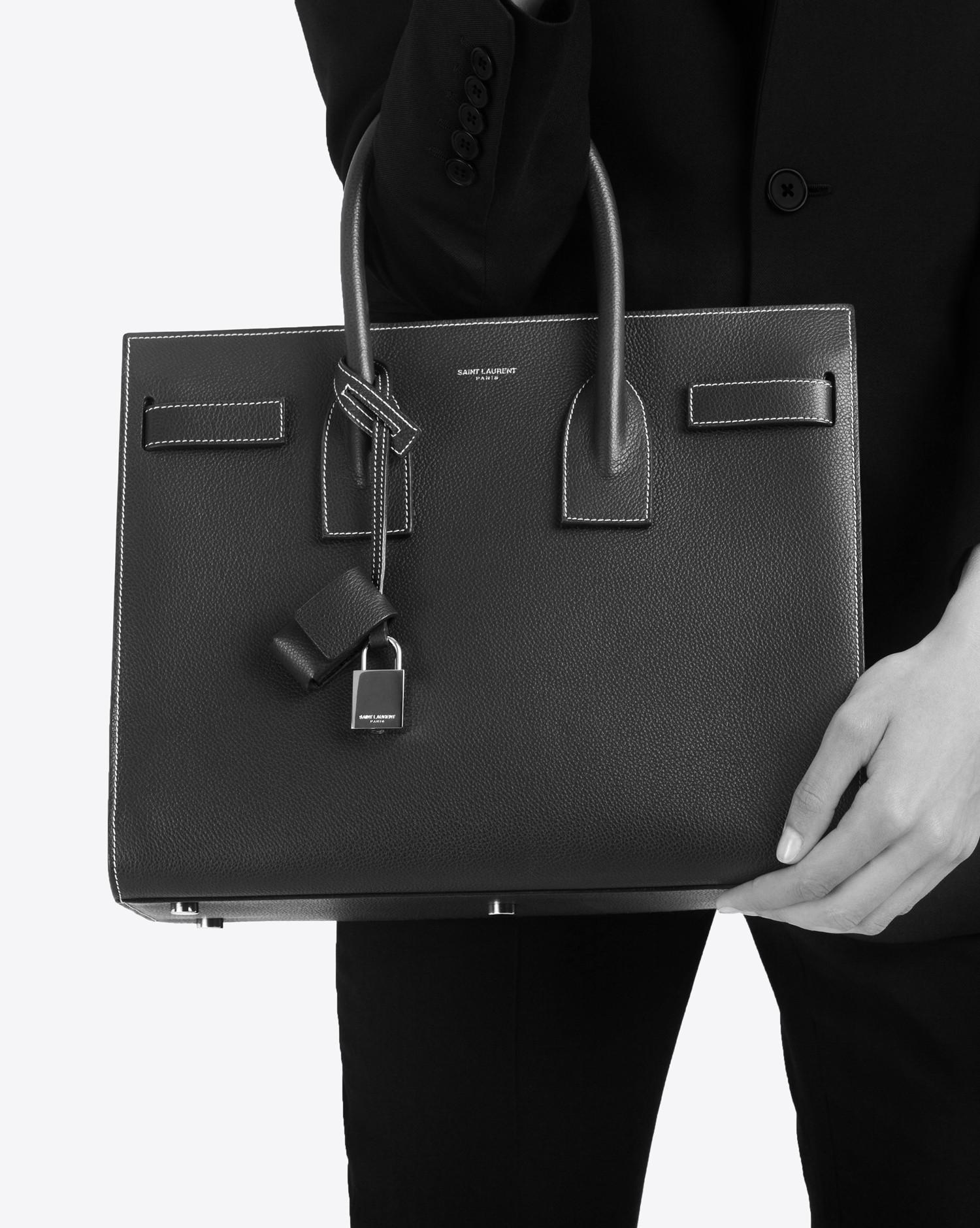 2c78639bdc Saint Laurent Classic Small Sac De Jour Bag In Dark Red Grained Leather