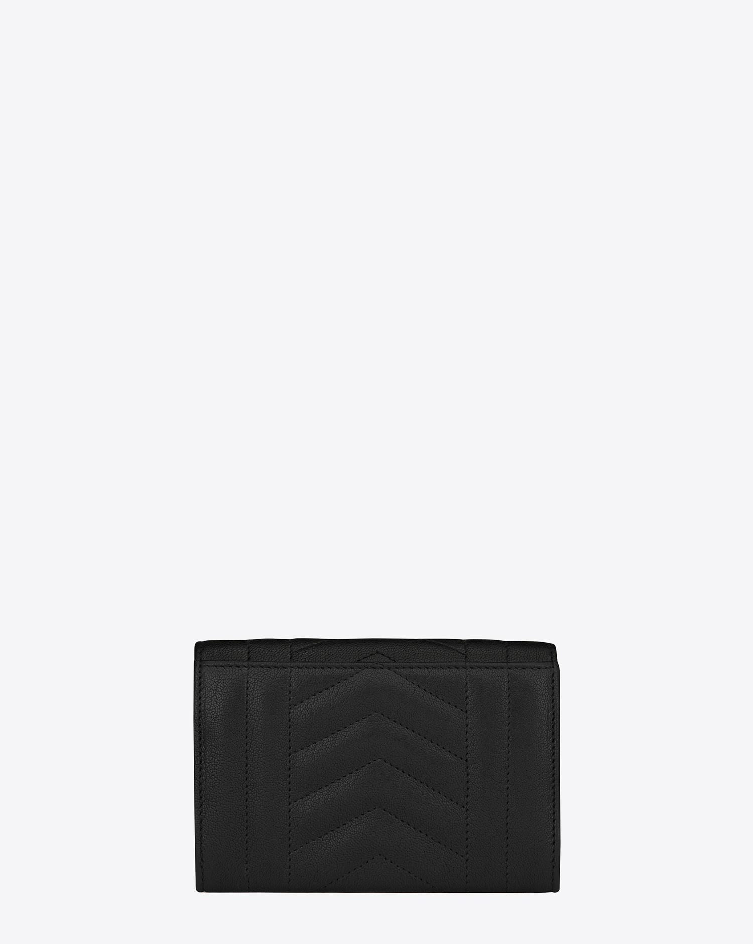 2a1a24f3f28 Saint Laurent Small Monogram Envelope Wallet In Black Mixed ...