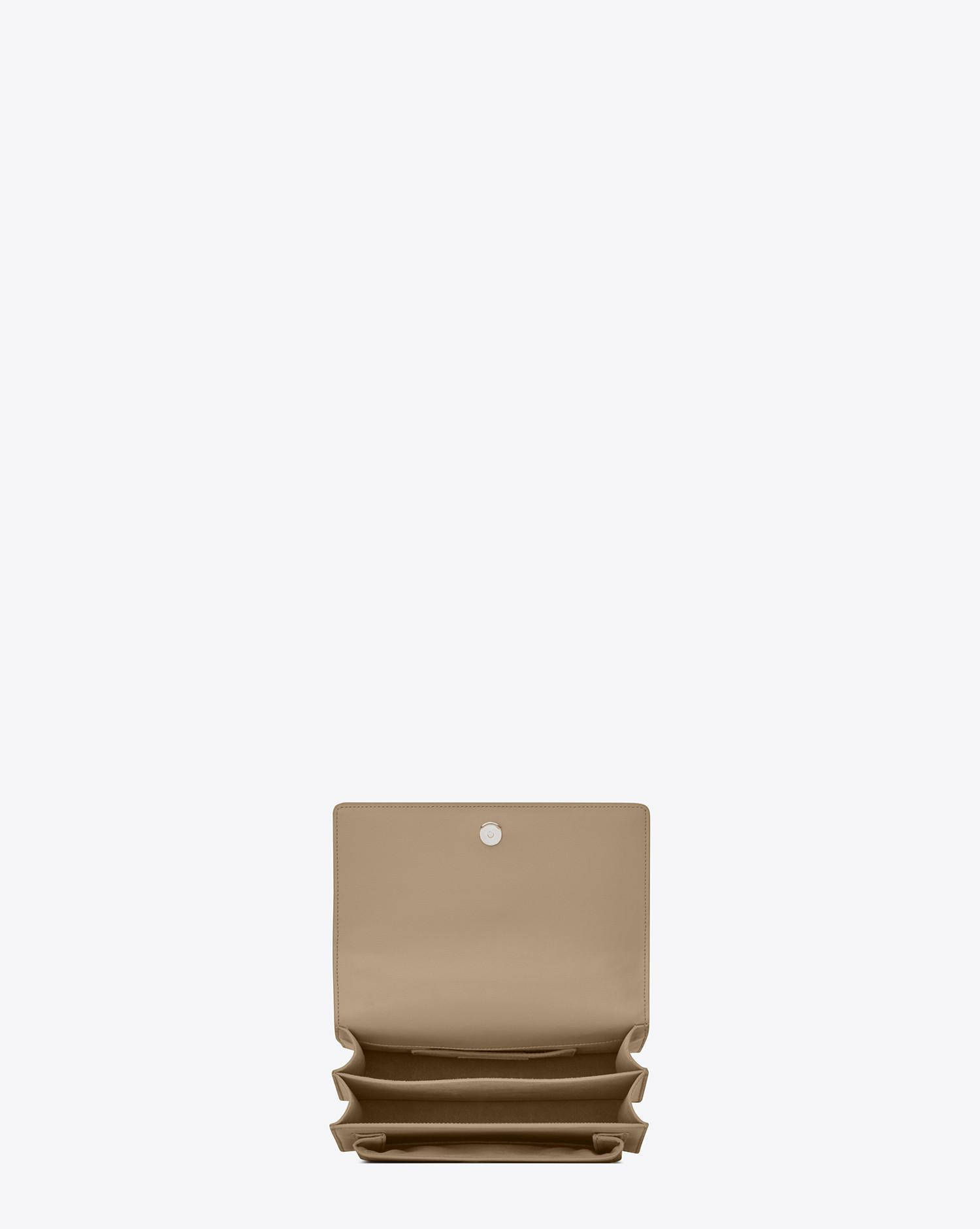 Lyst - Saint Laurent Sunset Medium In Smooth Leather in Natural 86257a308b