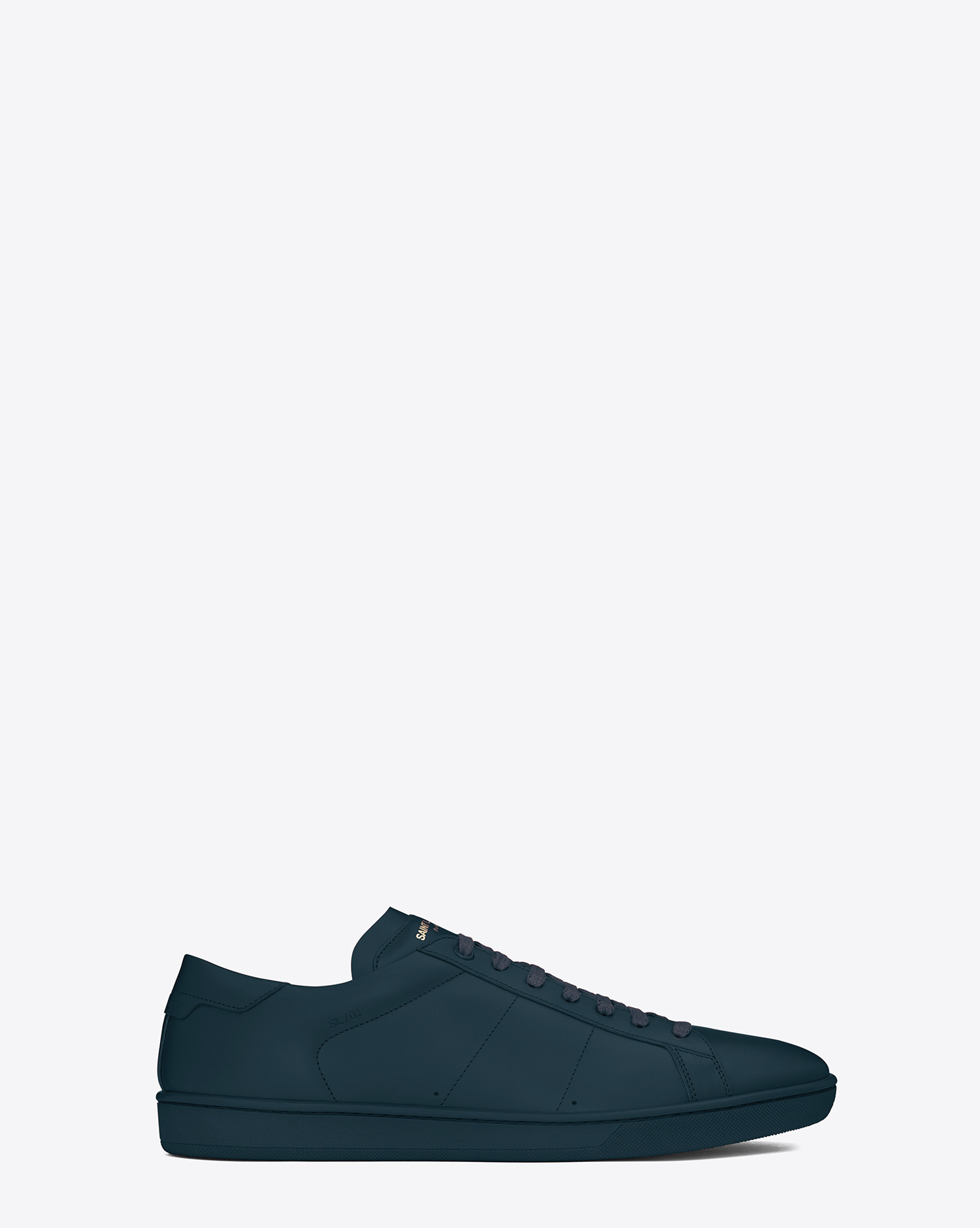 saint laurent sl 01 court classic sneaker in indigo leather in blue for men lyst. Black Bedroom Furniture Sets. Home Design Ideas