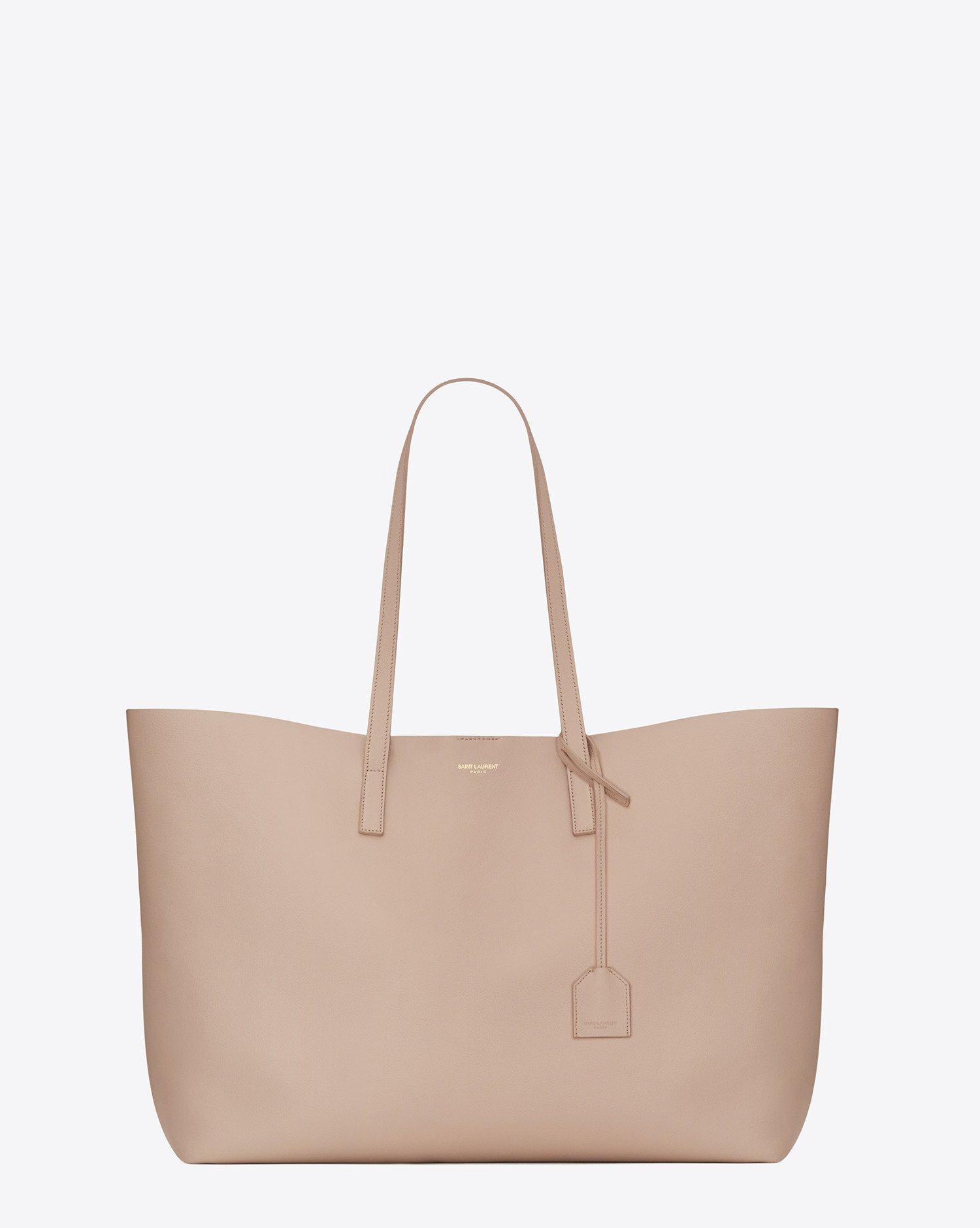 saint laurent large shopping tote bag in pale blush. Black Bedroom Furniture Sets. Home Design Ideas
