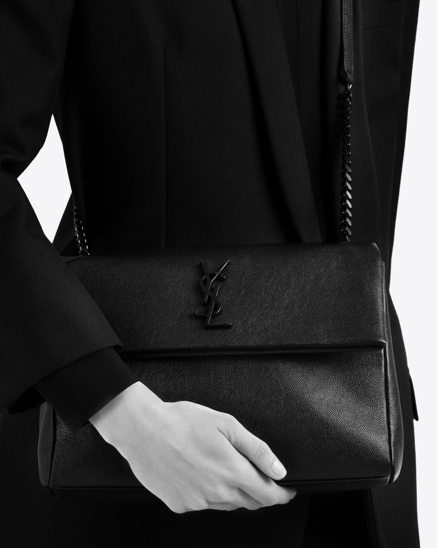d304696f0d07 Lyst - Saint Laurent Medium West Hollywood Monogram Bag In Black ...