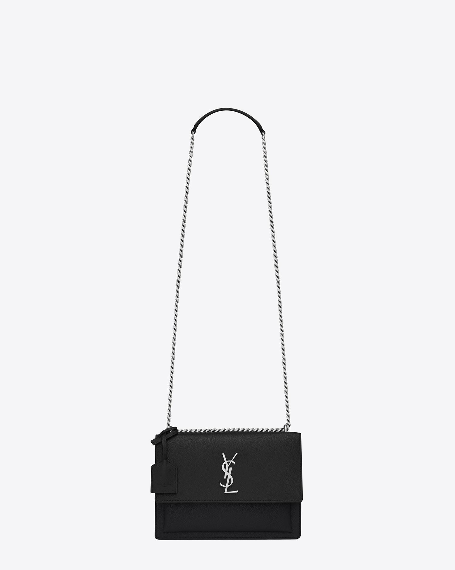 8c18e26e6647 Lyst - Saint Laurent Medium Sunset Monogram Bag In Black .