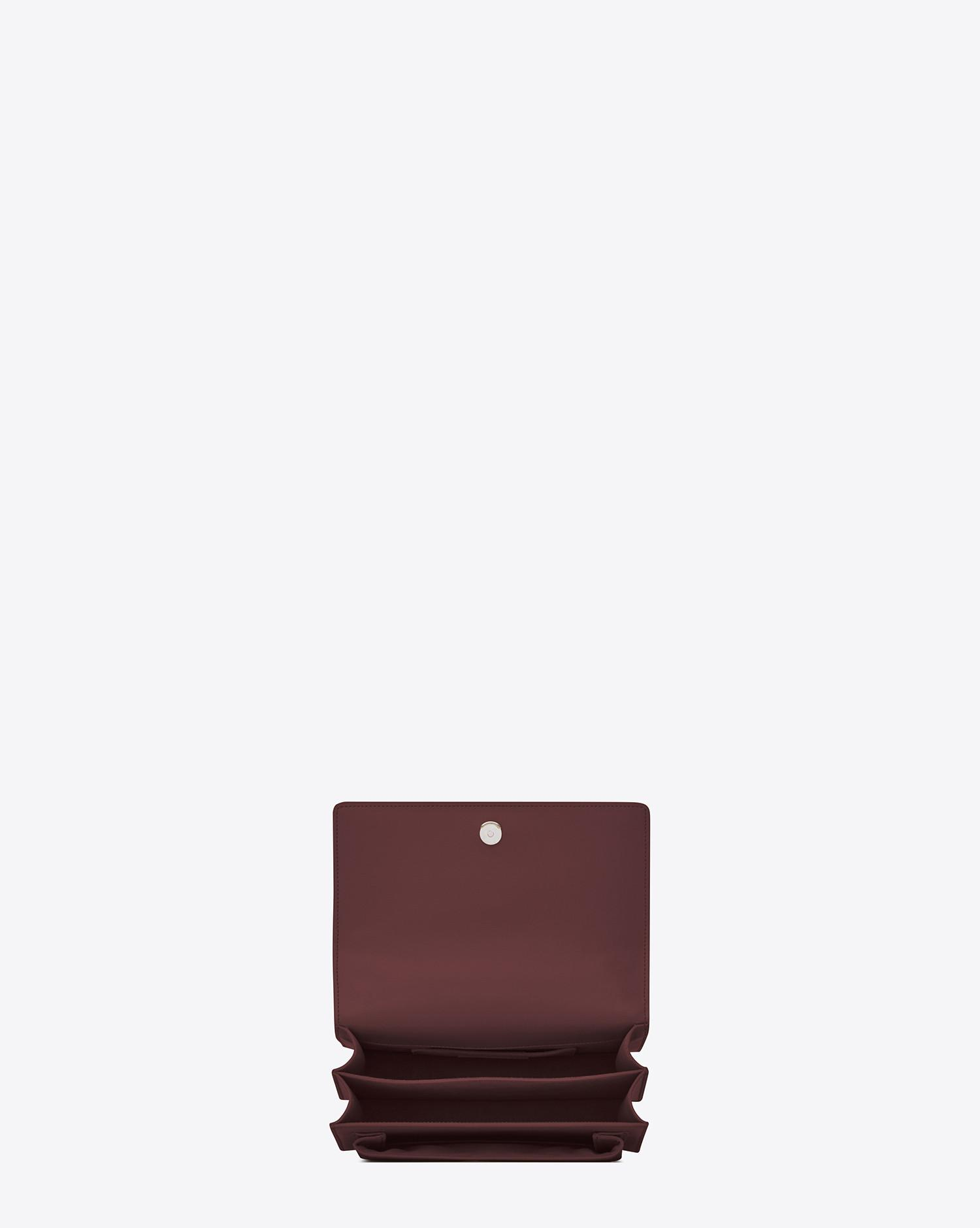 Lyst - Saint Laurent Sunset Medium In Smooth Leather in Red d976311ca340a