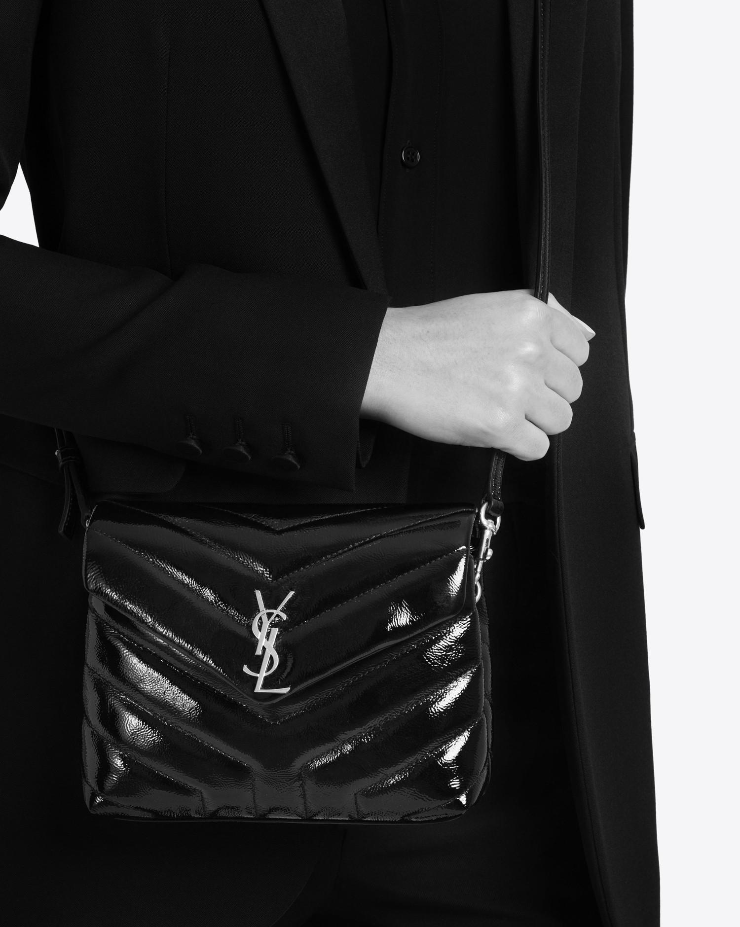 ac64e40554 Lyst - Saint Laurent Toy Loulou Strap Bag In Black