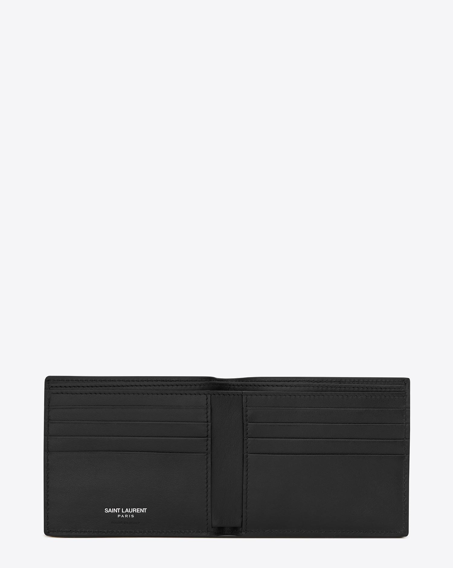 59ebaa9bcac Saint Laurent Paris Ysl Shield Patch East/west Wallet In Black ...