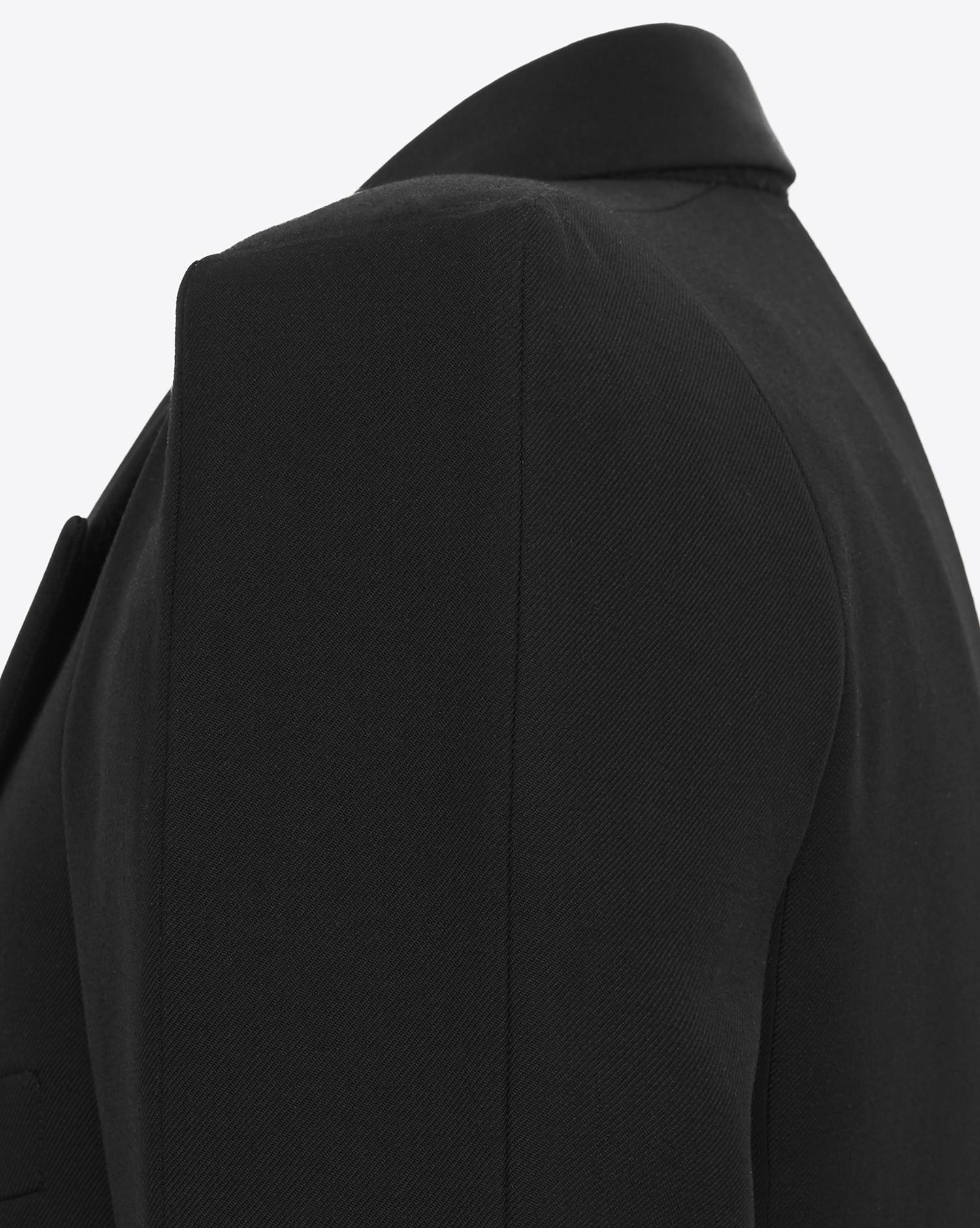 b0abbab3ec Men's Tux Jacket With Square-cut Shoulders In Black Gabardine