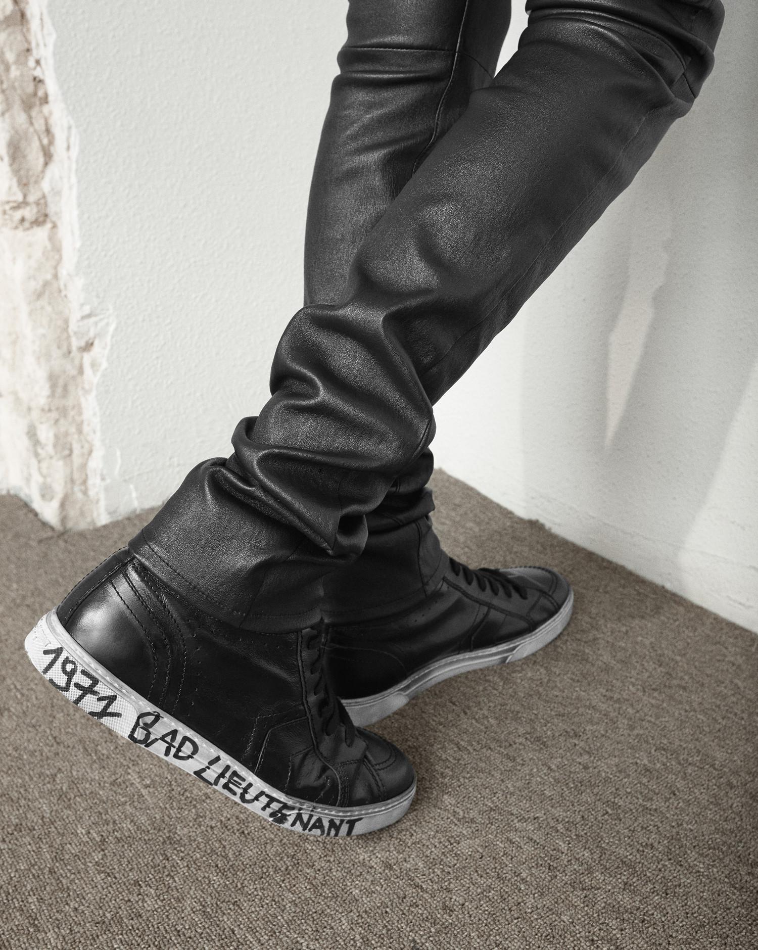 Saint Laurent Joe Mid Top Sneaker In