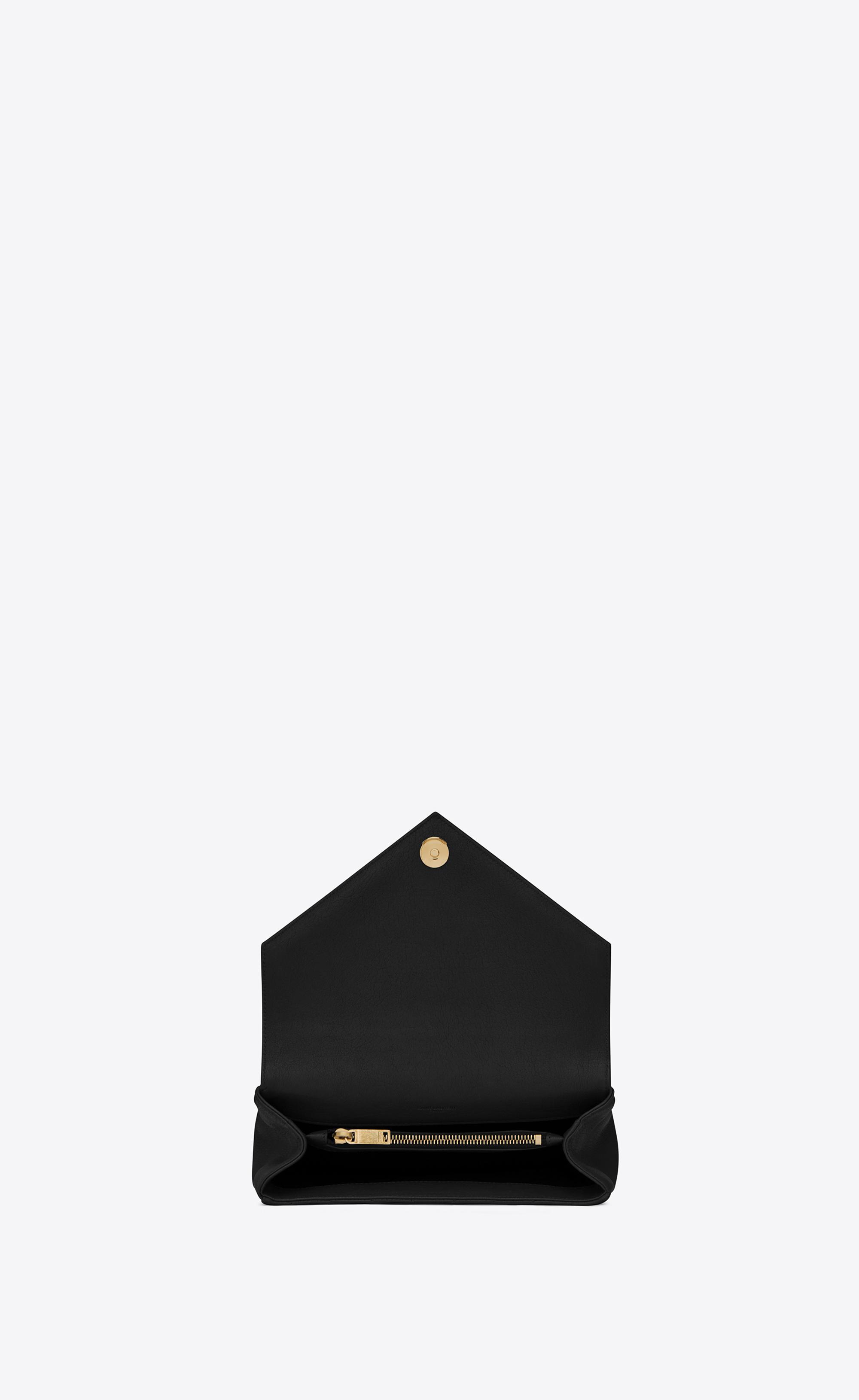Saint Laurent Medium Collège Bag In Black Matelassé Leather And ... f9913d339c579