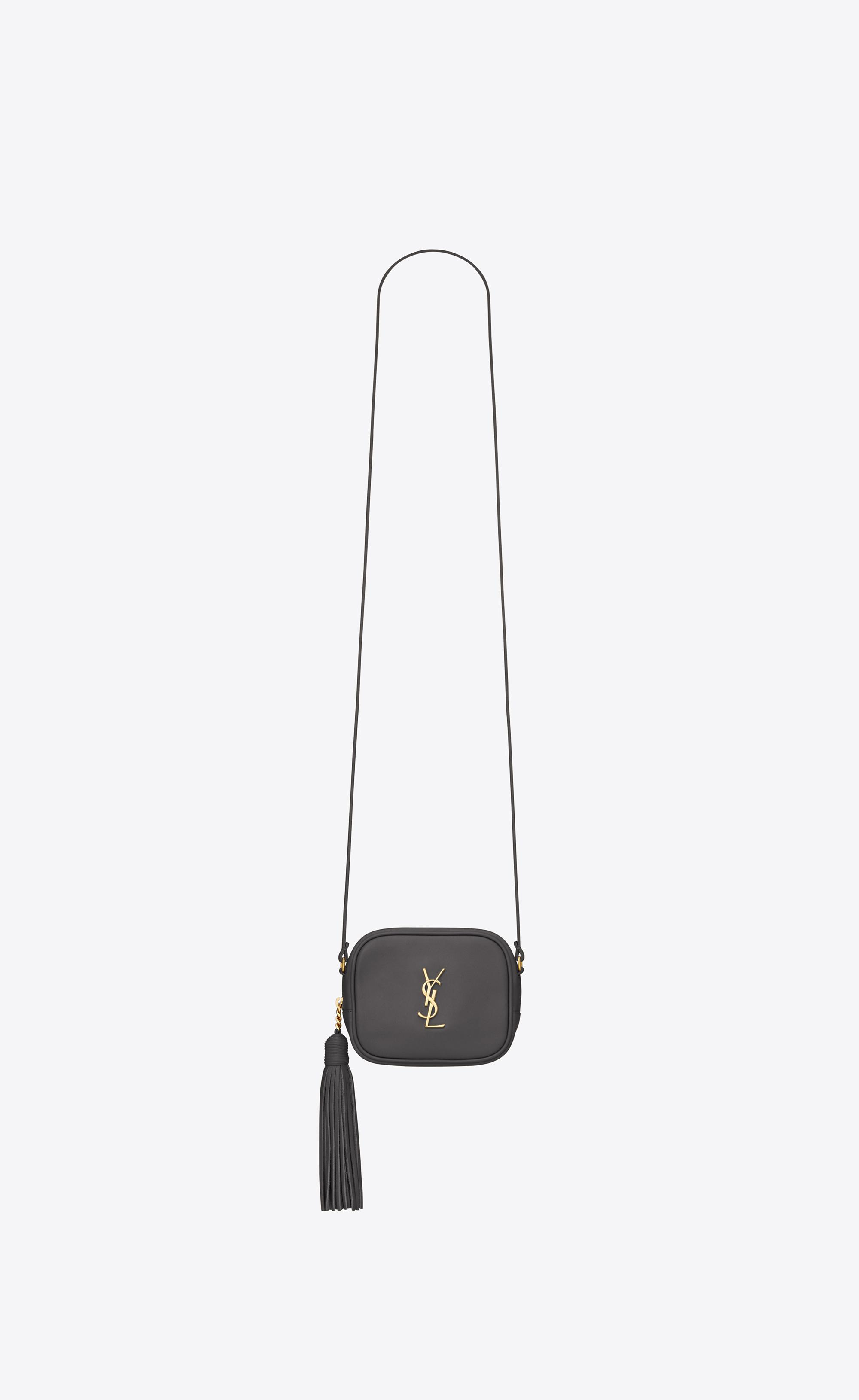 e7e73586bd18 Lyst - Saint Laurent Monogram Blogger Bag In Grey Leather in Gray