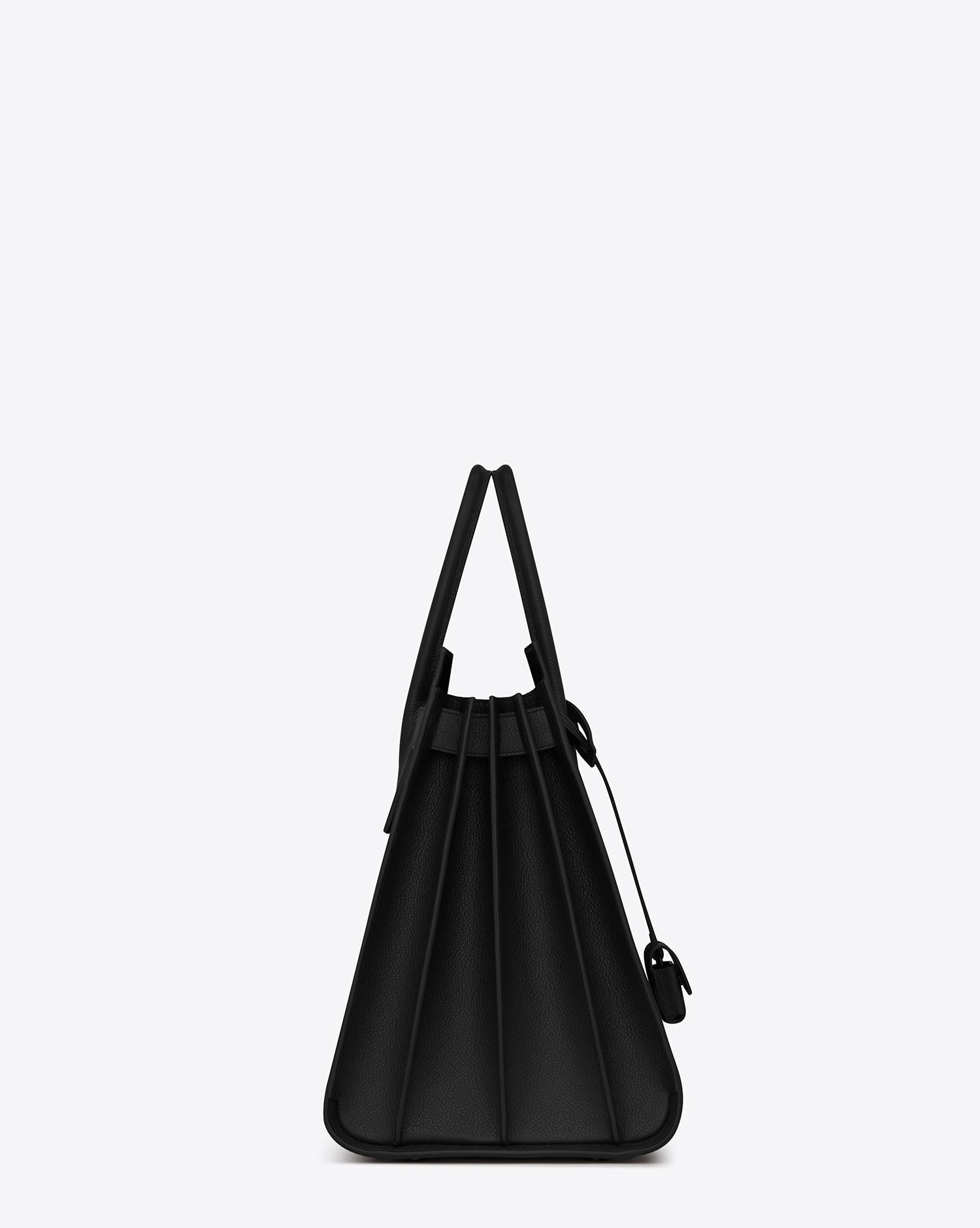 f07e21441745 Saint Laurent. Men s Large Sac De Jour Carry All Bag In Black Grained  Leather