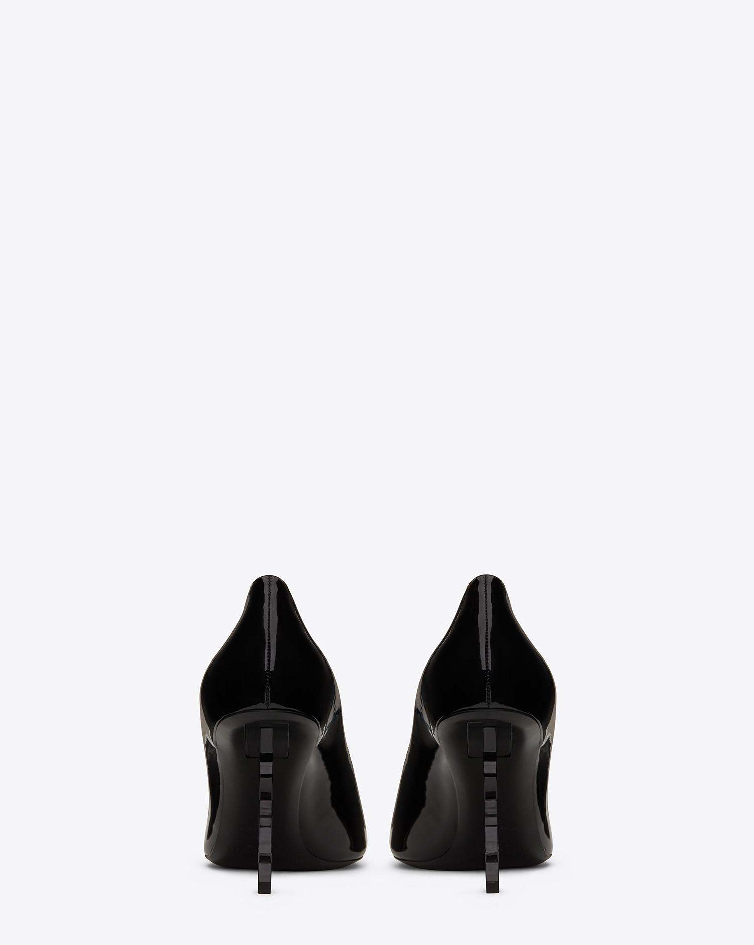 008940e864e0 Lyst - Saint Laurent Opyum Pumps In Patent Leather With Black Heel ...