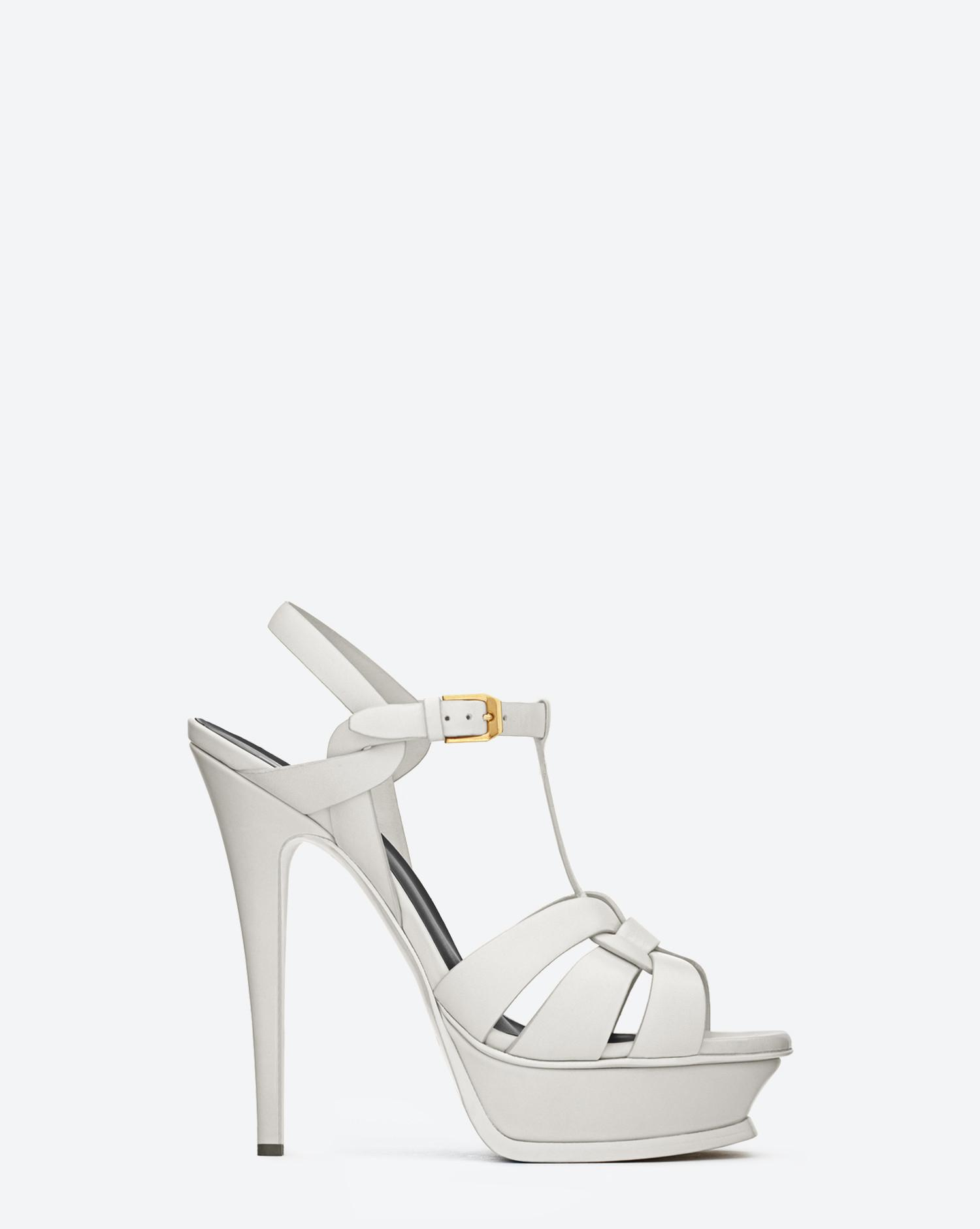 680d47e5121 Women's White Tribute Sandals In Smooth Leather