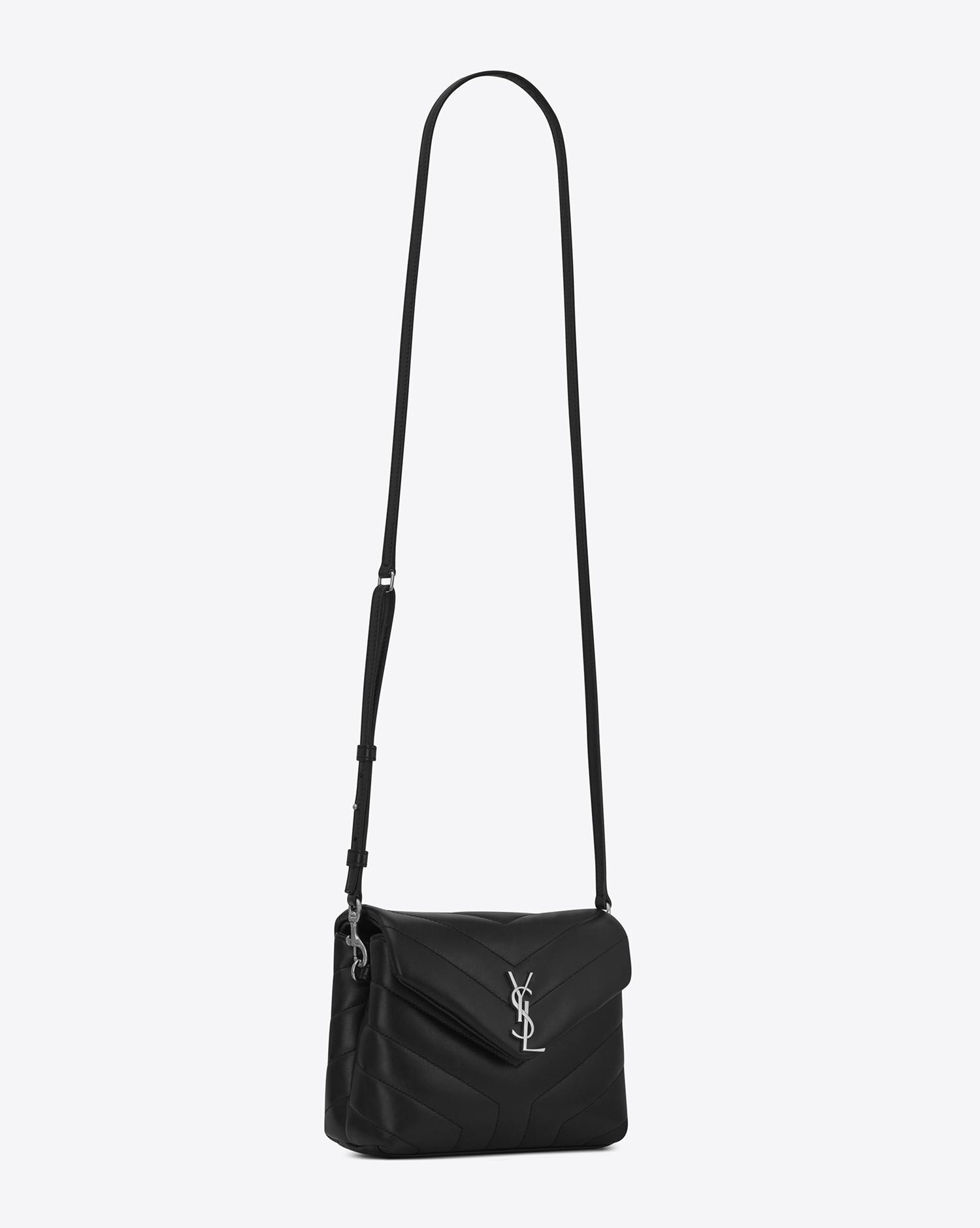 a30a4bdca083 Saint Laurent Toy Loulou Strap Bag in Black - Lyst