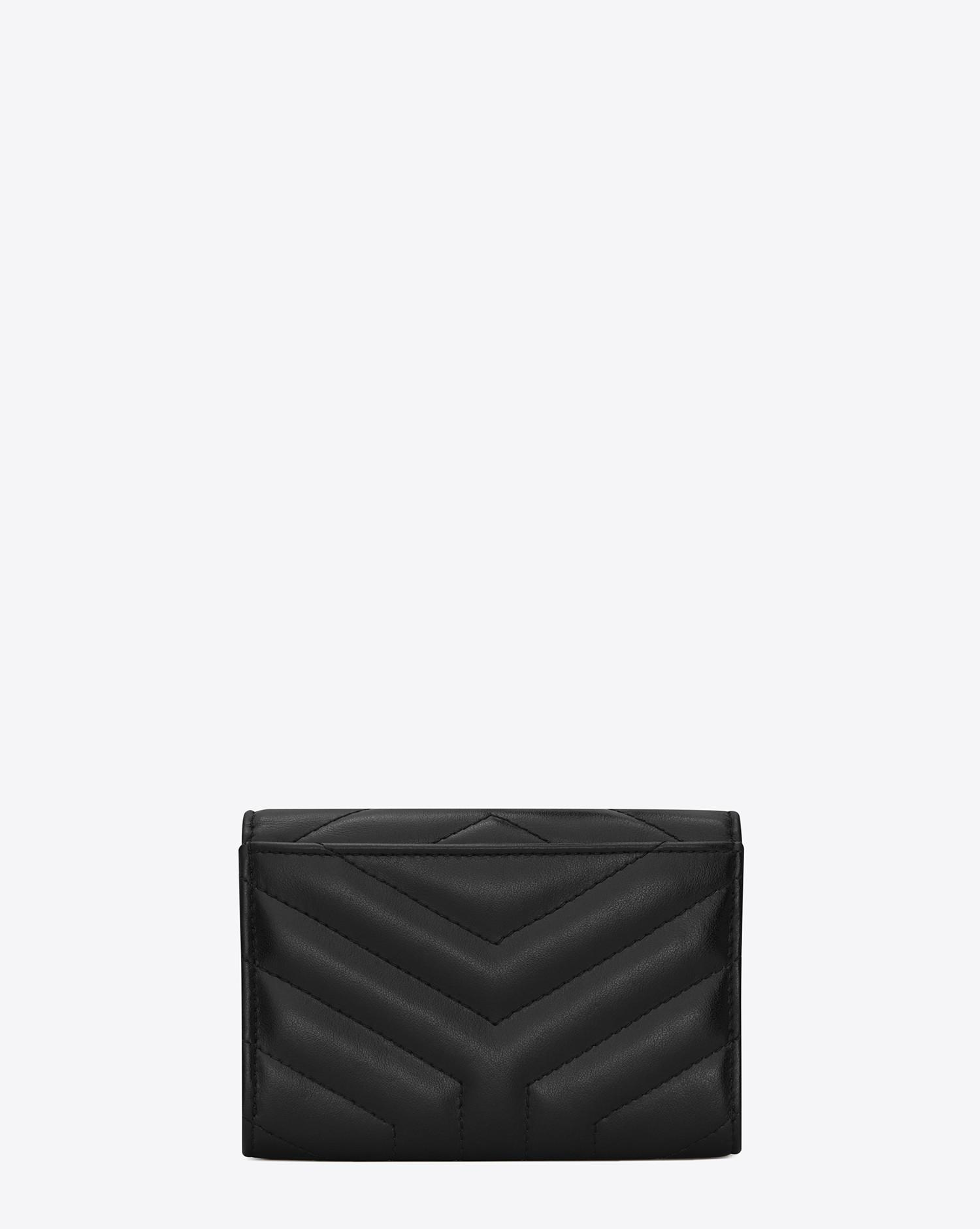 b409b68008 Saint Laurent Loulou Small Envelop Wallet In Matelassé