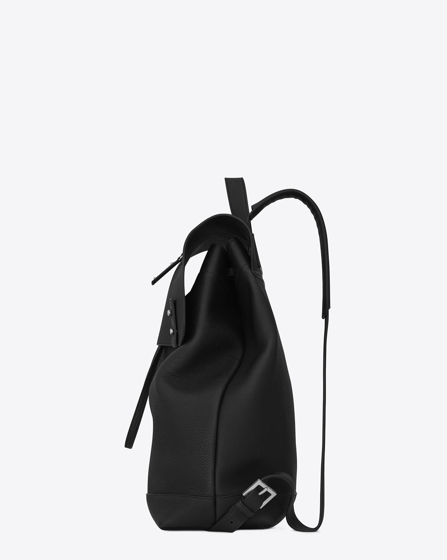 6271e1e84d5 Tap to visit site. Saint Laurent Black Sac De Jour Backpack In Grained  Leather for men