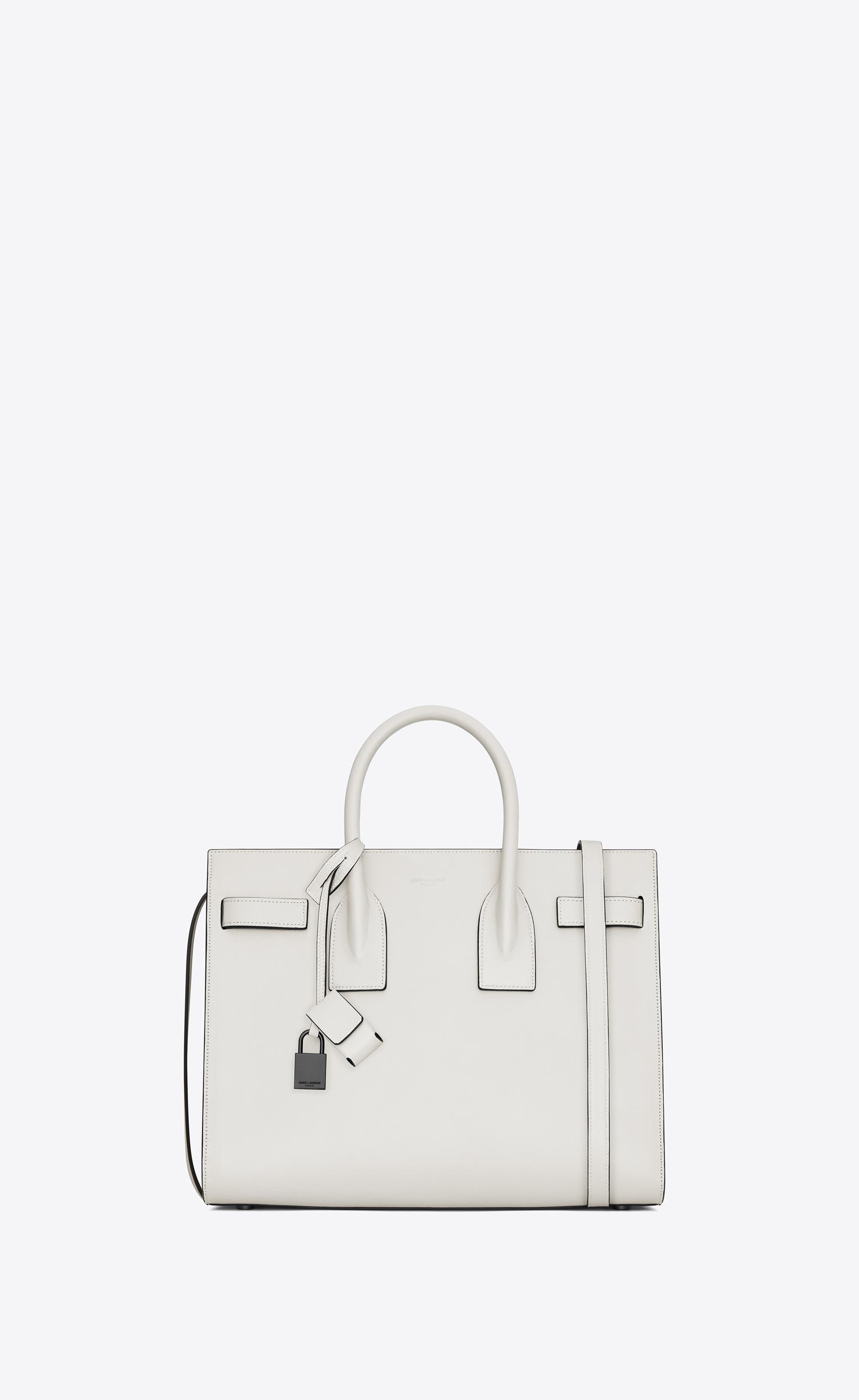 07271cece2 Saint Laurent Classic Small Sac De Jour Bag In Dove White And Black ...