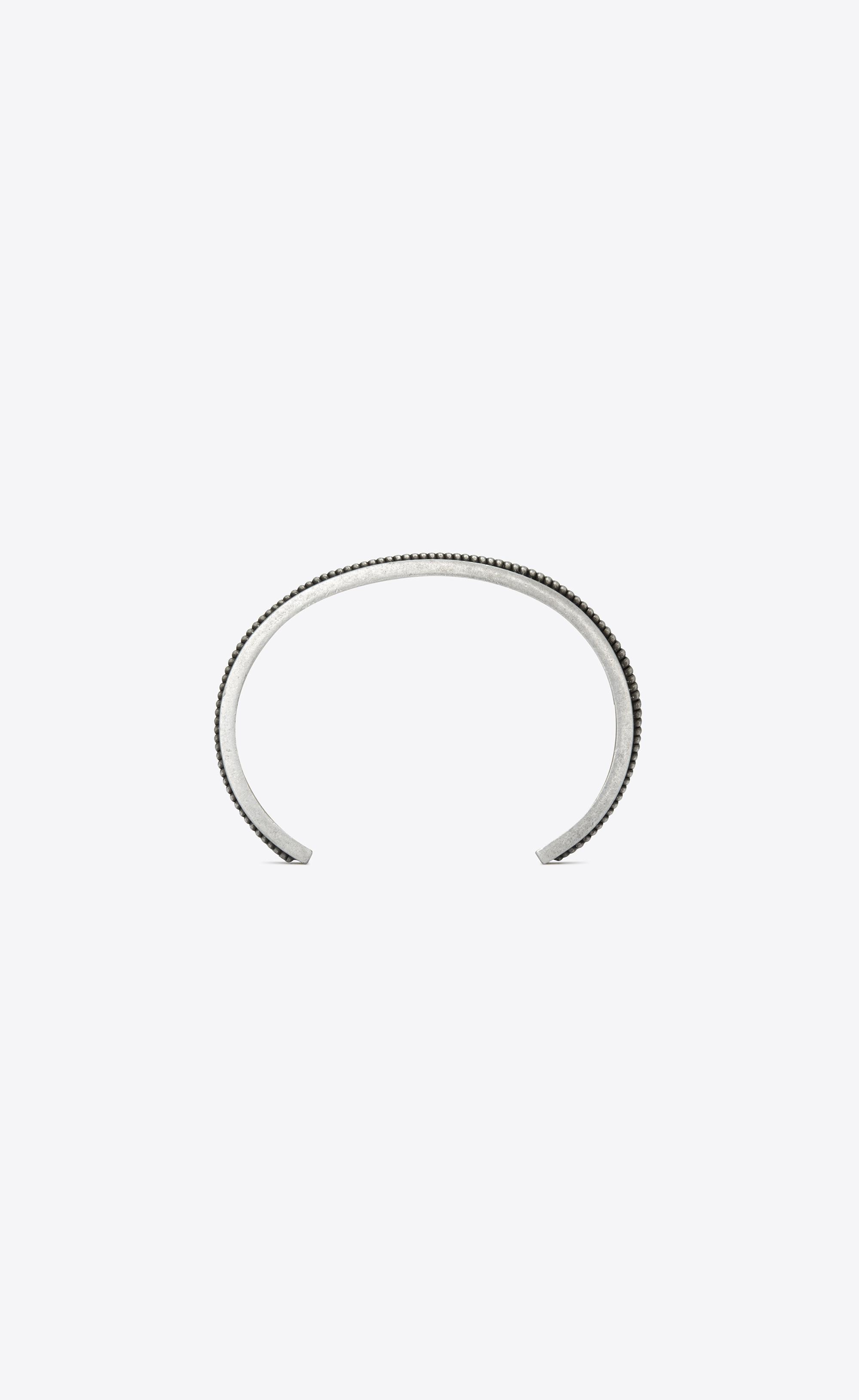 c475778368 Saint Laurent Folk Cuff Bracelet In Brass With Two Twists in ...