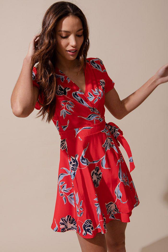Yumi Kim Kennedy Silk Dress In Red Lyst