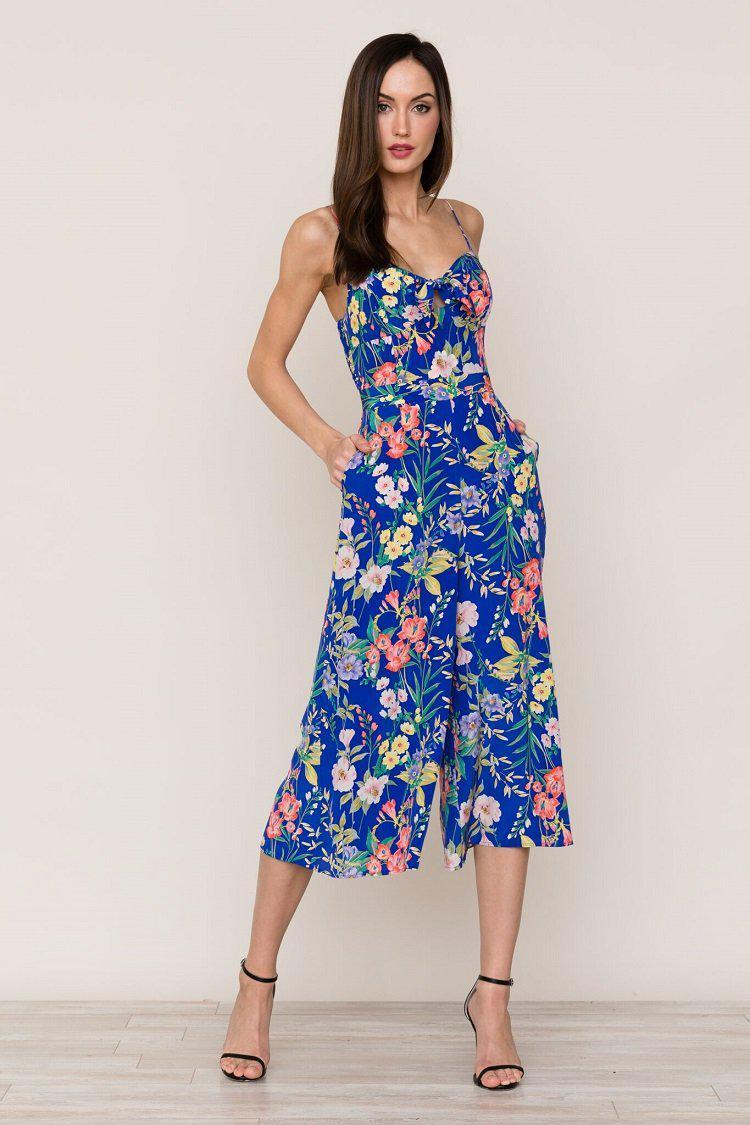 98c5ac82c8c Lyst - Yumi Kim Pretty Chic Silk Jumpsuit in Blue