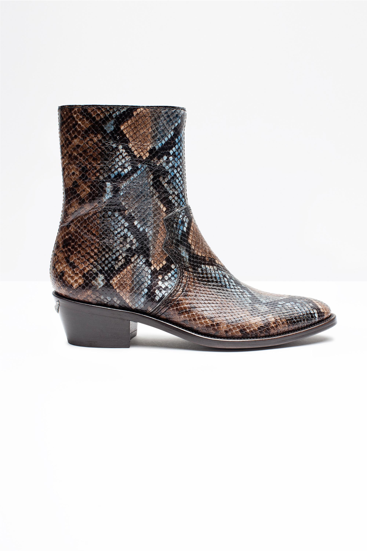 Zadig & Voltaire Leather Pilar Wild Boots