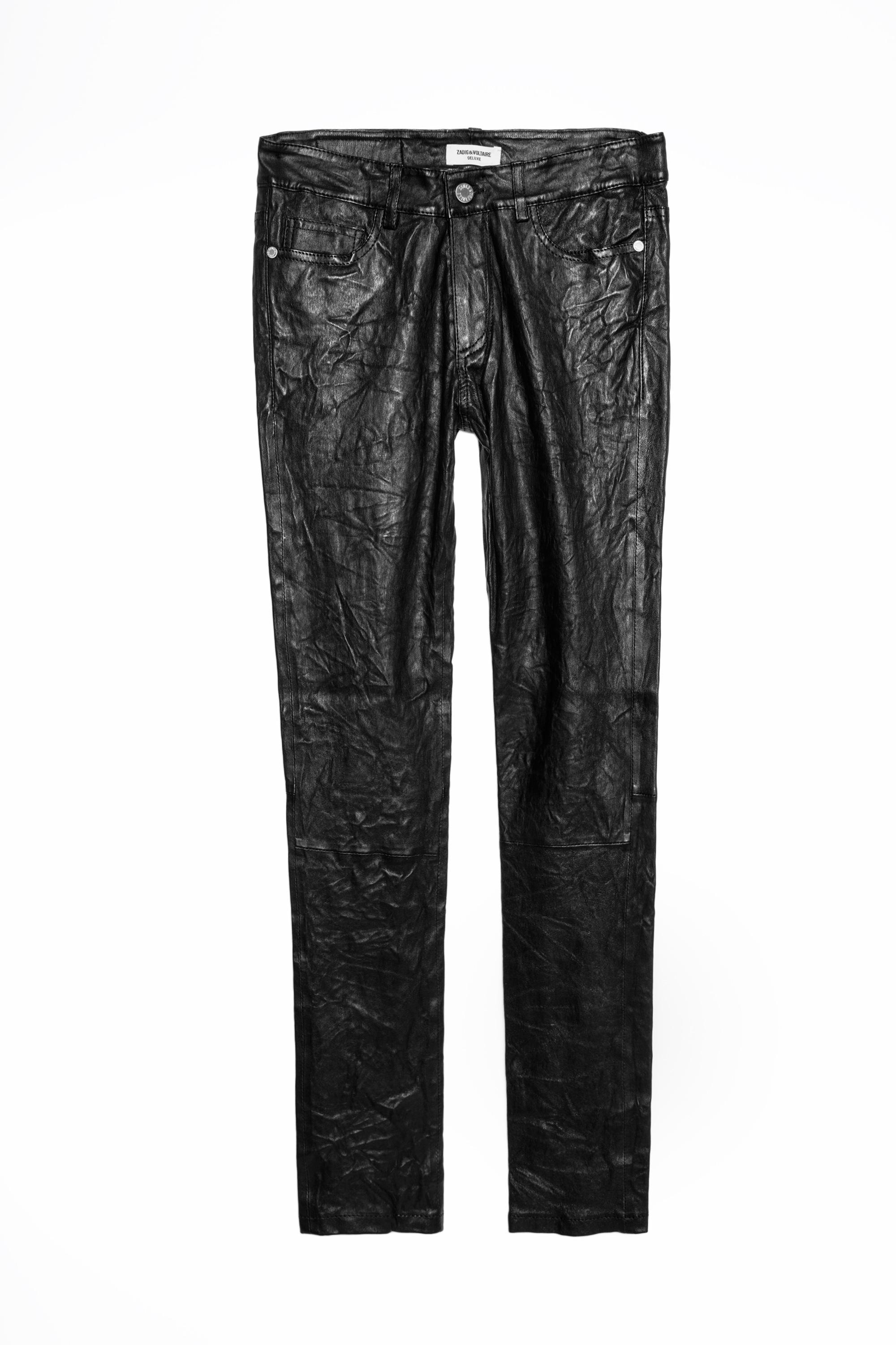 Zadig & Voltaire Leather Phlame Deluxe Pants in Black