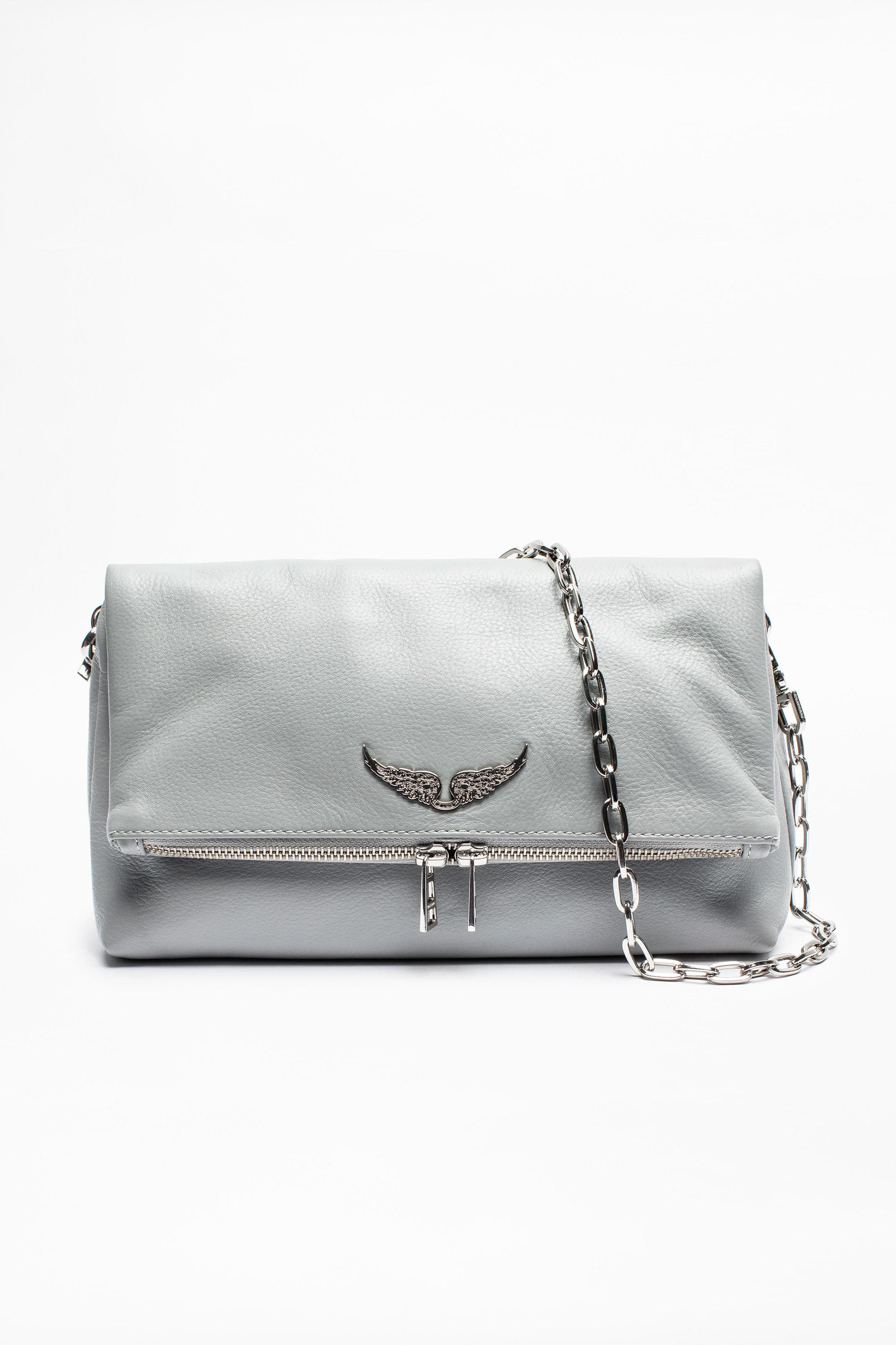 Zadig Voltaire Leather Rocky Bag In Gray Lyst