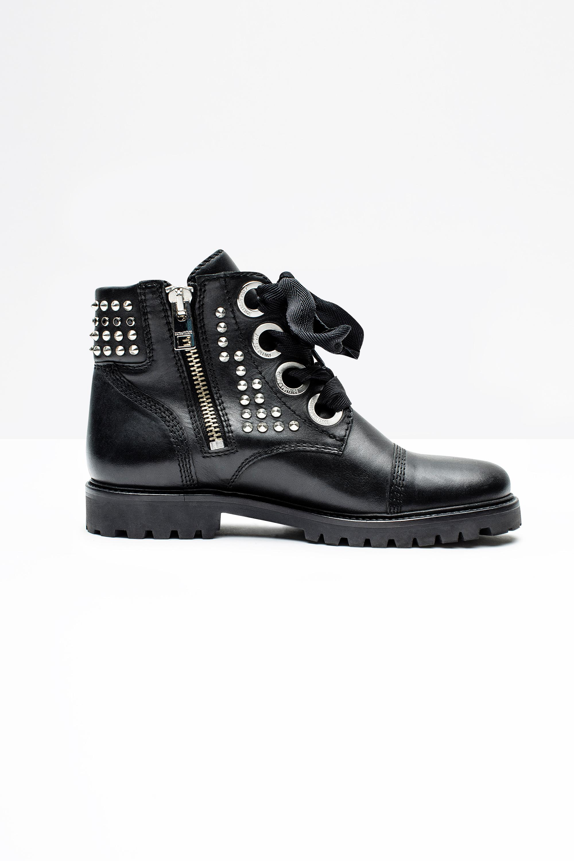 Zadig & Voltaire Leather Optimiste+ Bag in Black